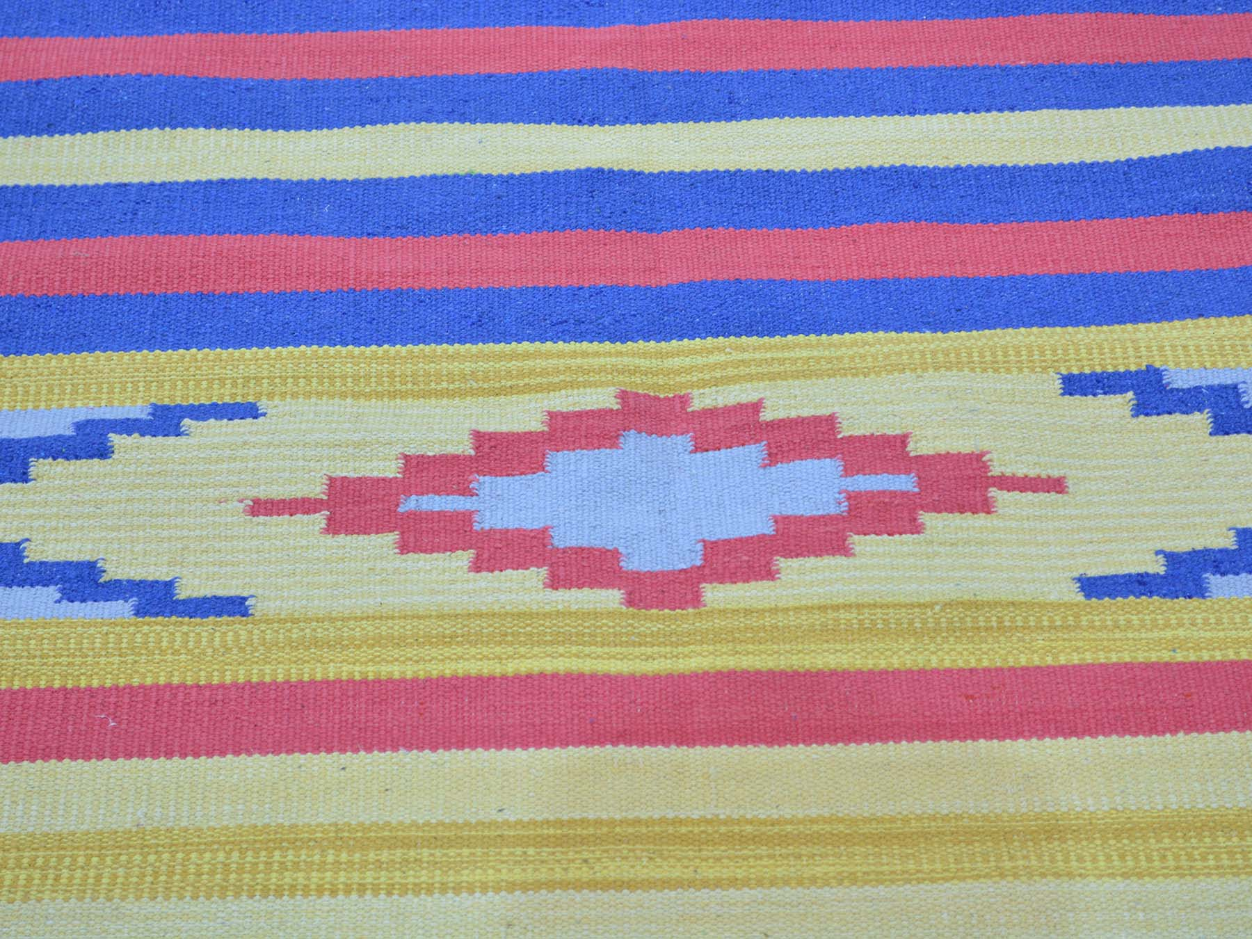 4-x6- Flat Weave Killim Hand Woven Oriental Navajo Design Rug