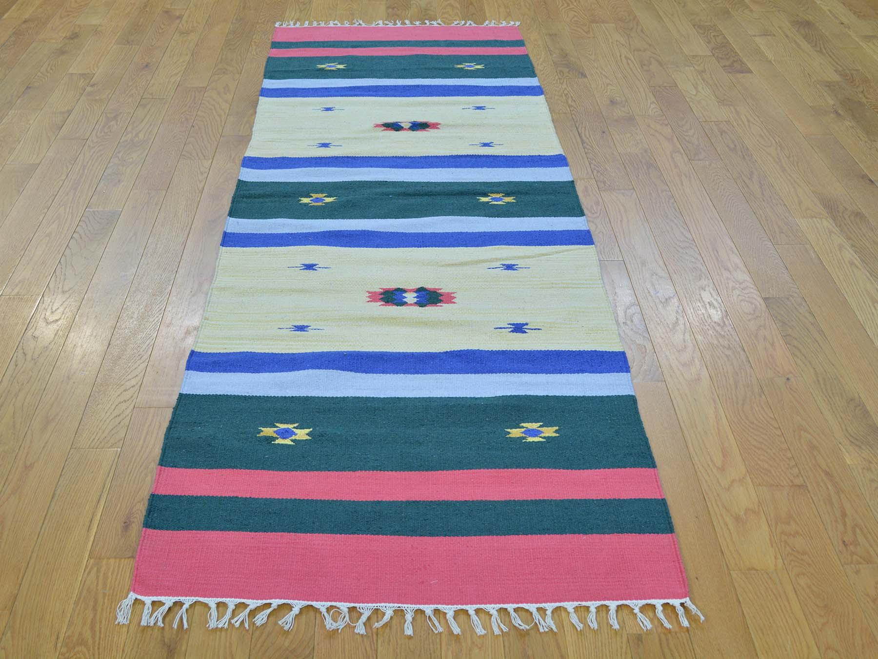 2-6 x7-7  Navajo Design Runner Flat Weave Kilim Hand Woven Oriental Rug