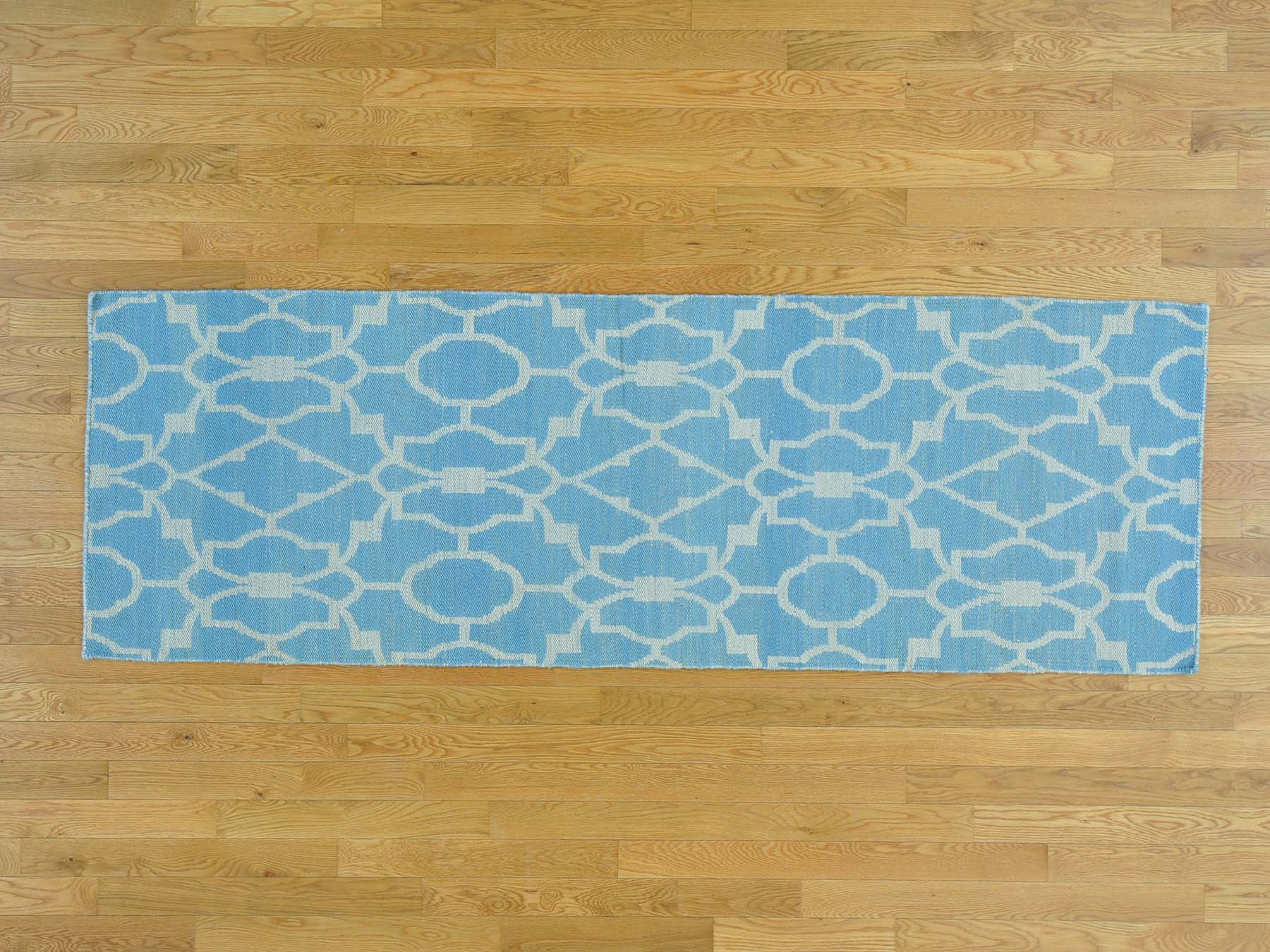 2-8 x7-10  Reversible Runner Flat Weave Killim Oriental Hand Woven Rug