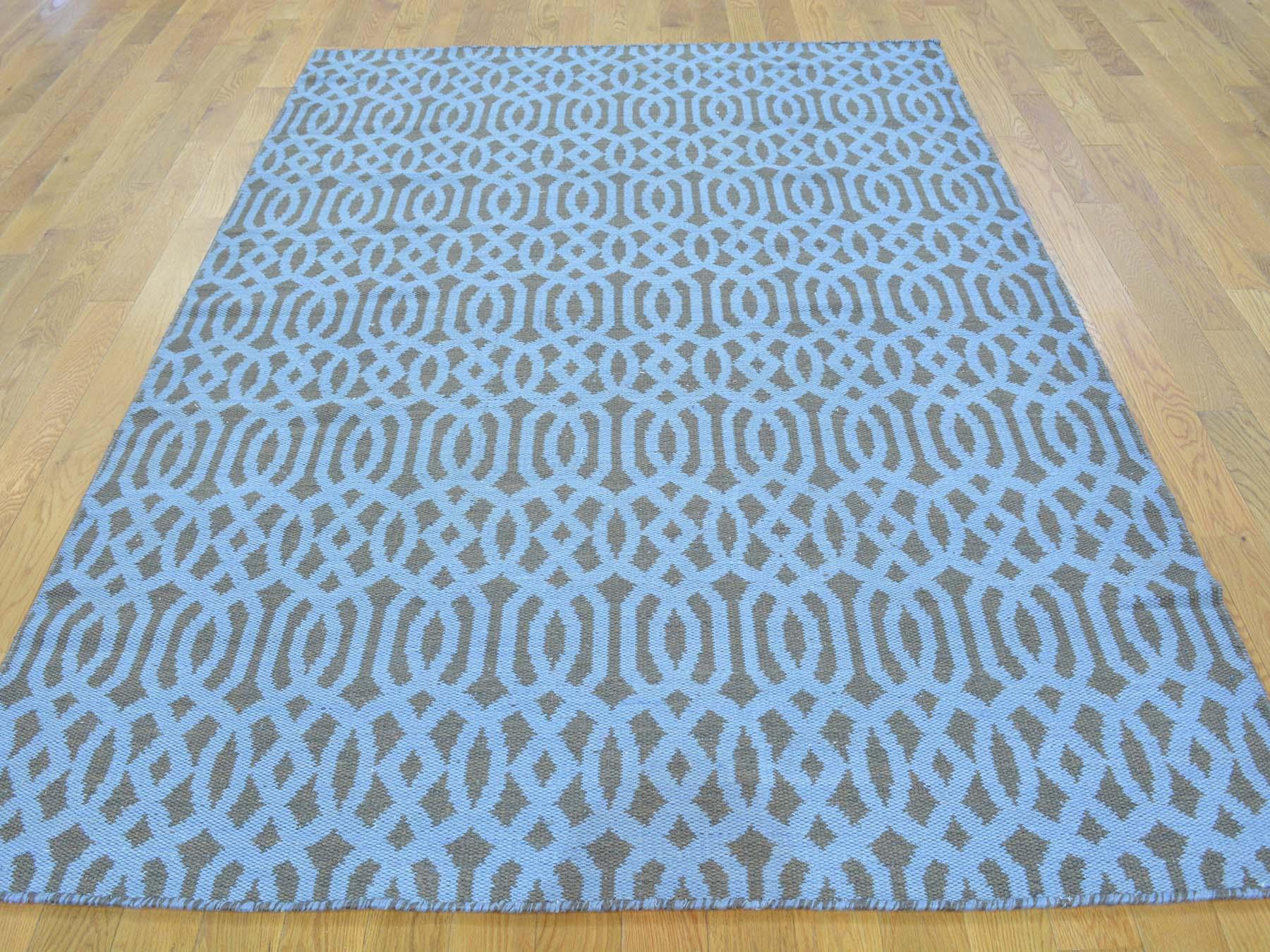 4-10 x7-2  Hand Woven Reversible Flat Weave Oriental Kilim Rug