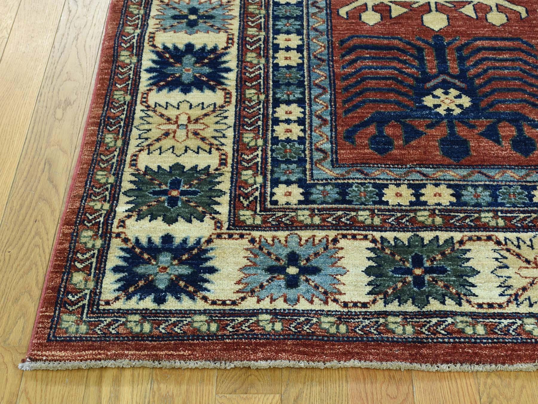 5-1 x8-2  Hand-Knotted Turkoman Ersari 100 Percent Wool Oriental Carpet