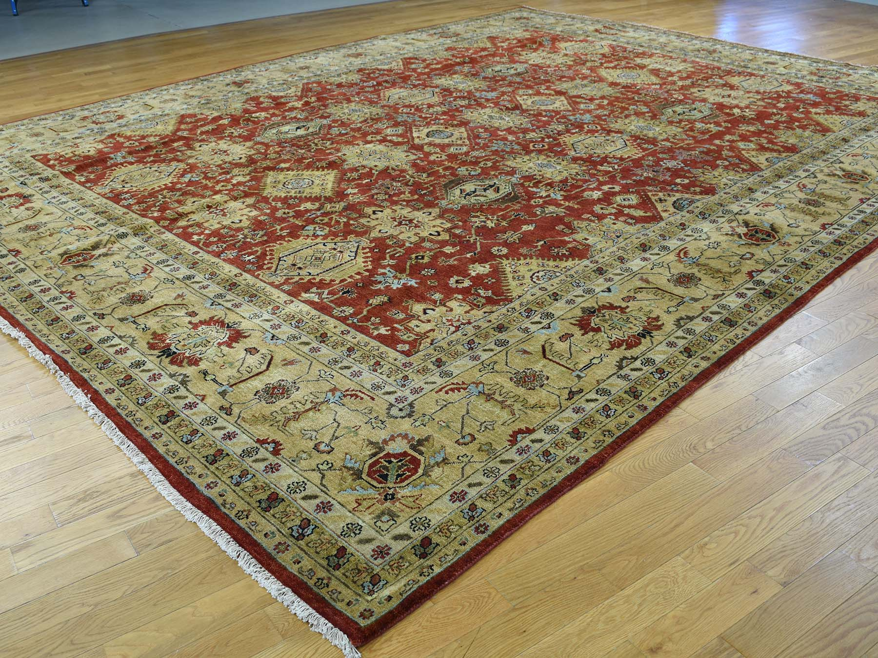 11-9 x15- Hand-Knotted 100 Percent Wool Karajeh Oversize Oriental Rug