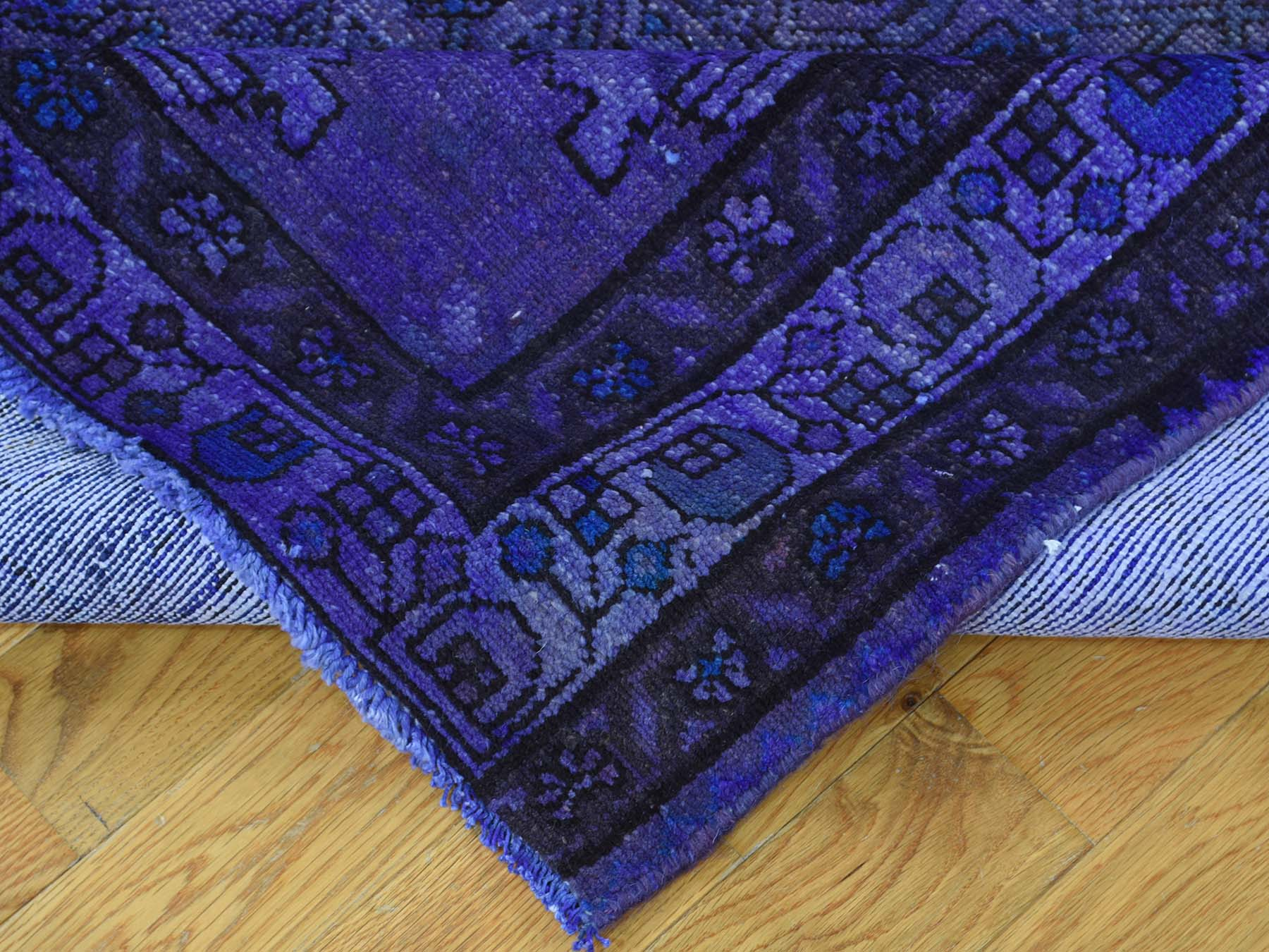 5-x9-10  Handmade Persian Hussainabad Overdyed Worn Wide Runner Rug