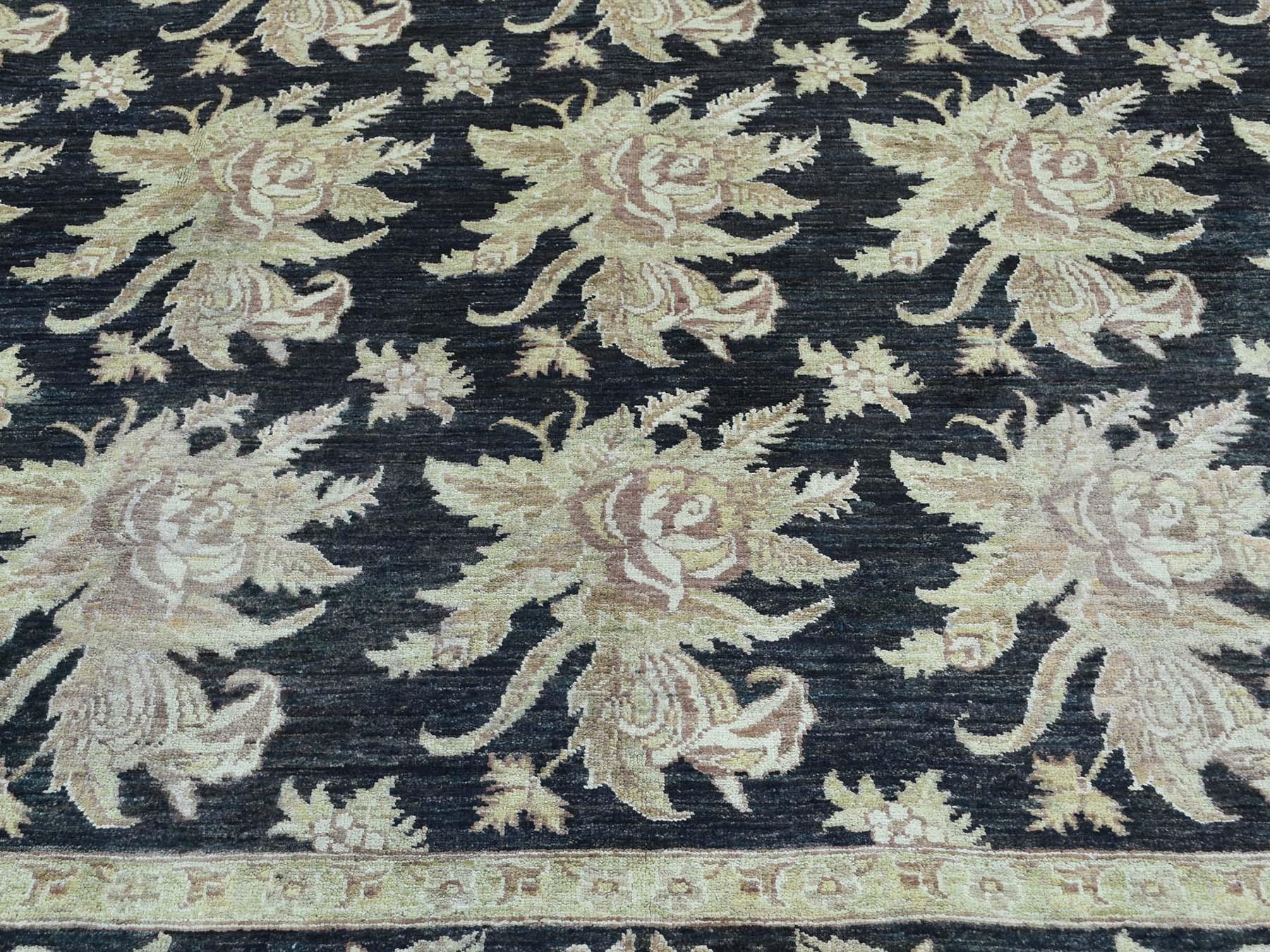 9-1 x12-4  Dense Weave Peshawar With Flower Design Hand-Knotted Rug