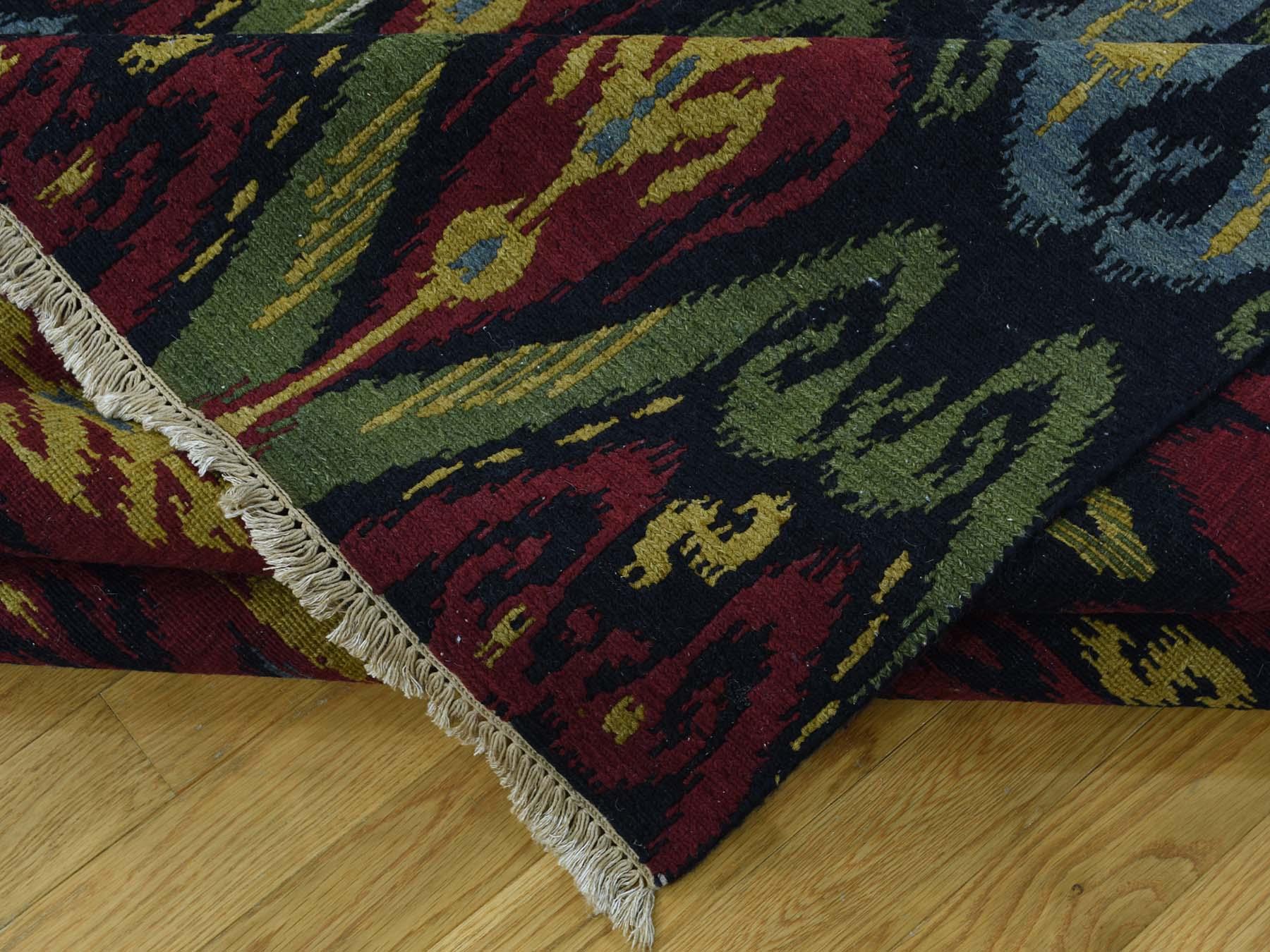 8-10 x11-10  Ikat Design Soumak Double Weft Hand-Woven Oriental Rug