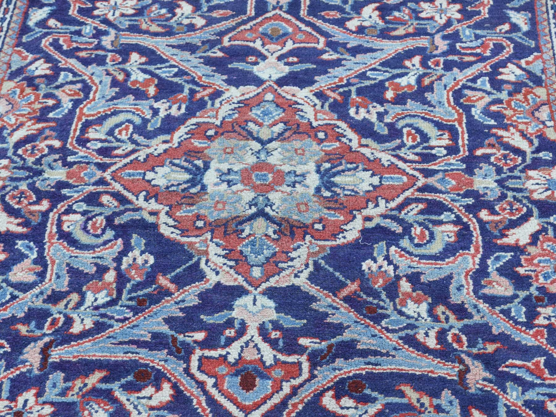 3-8 x13-4  Hand-Knotted Persian Mahal Wide Runner Oriental Rug