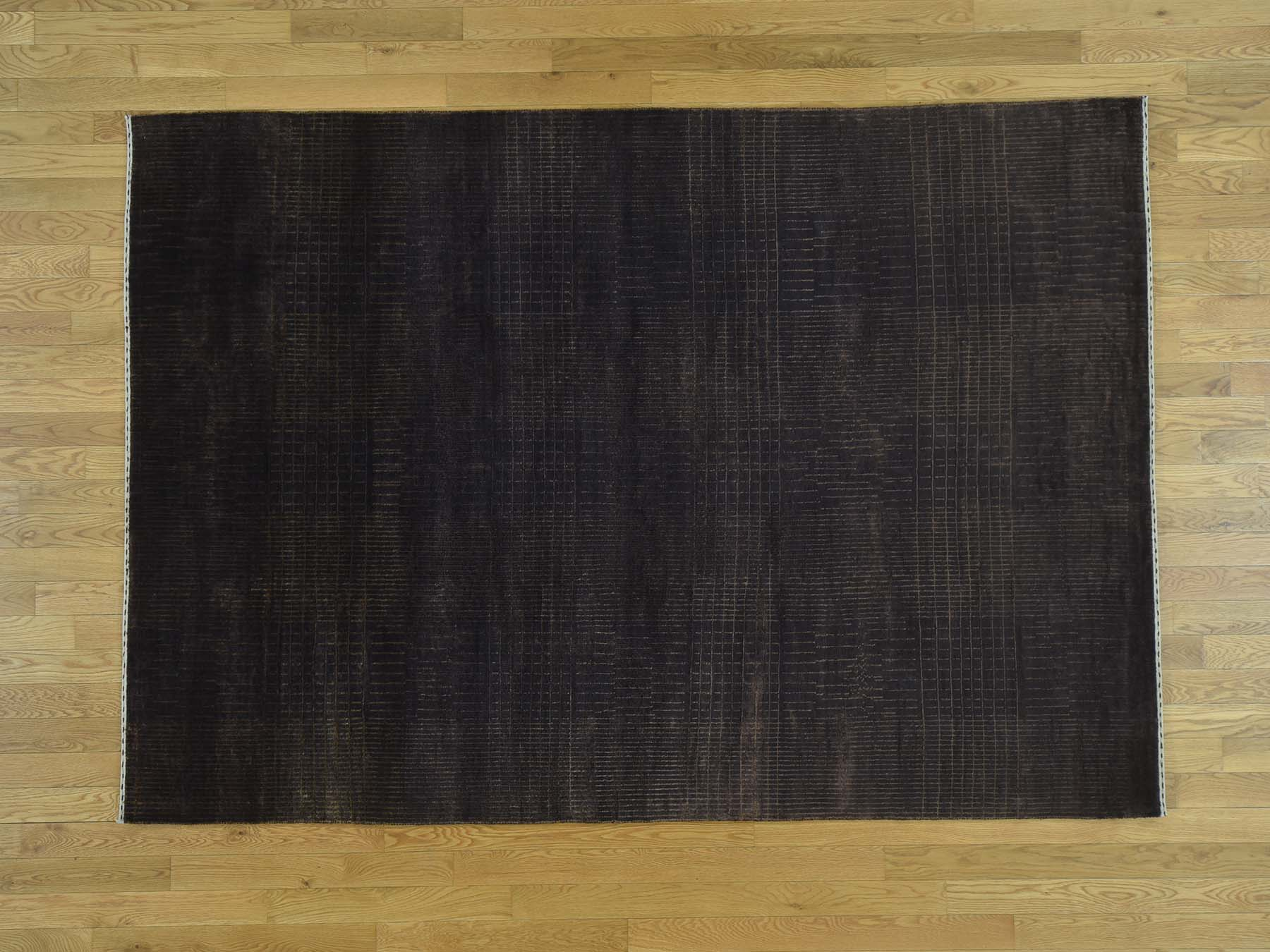 5-9 x8-3  Tone on Tone Wool and Silk Nepali Hand Knotted Oriental Rug