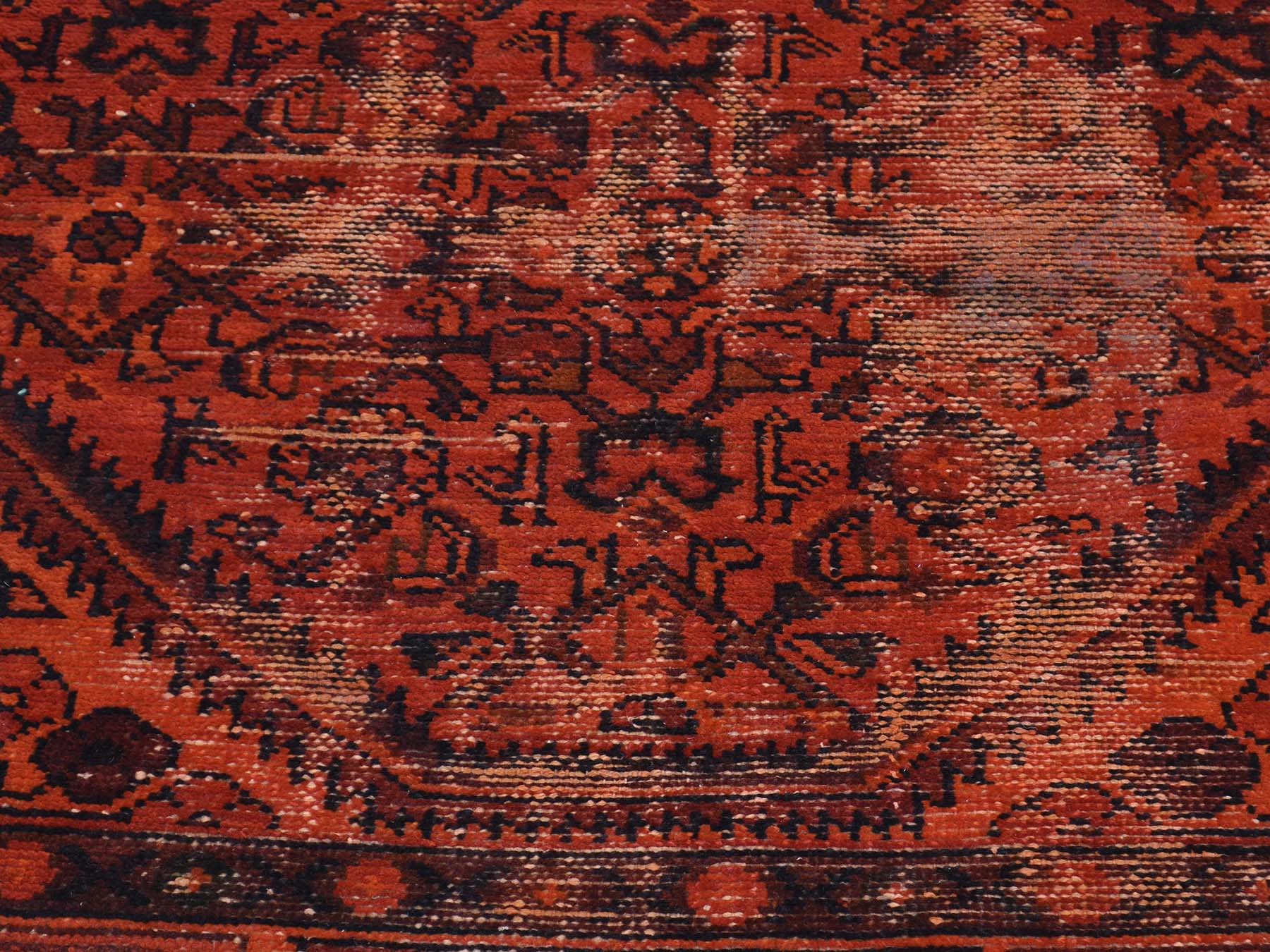 5-x9-5  Hand-Knotted Overdyed Persian Hussainabad Wide Runner Rug