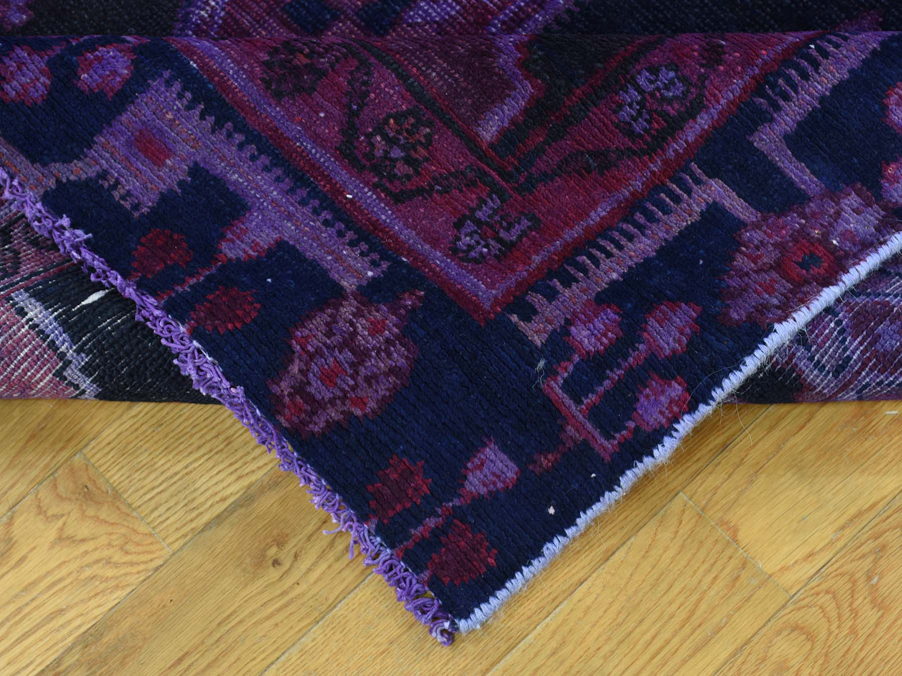 4-6 x10- Persian Hamadan Hand Knotted Overdyed Oriental Wide Runner Rug
