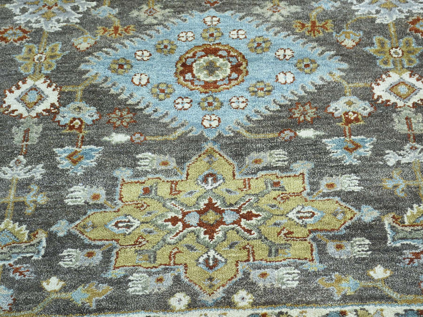 10-x13-9  Hand-Knotted Pure Wool Karajeh Design Oriental Rug