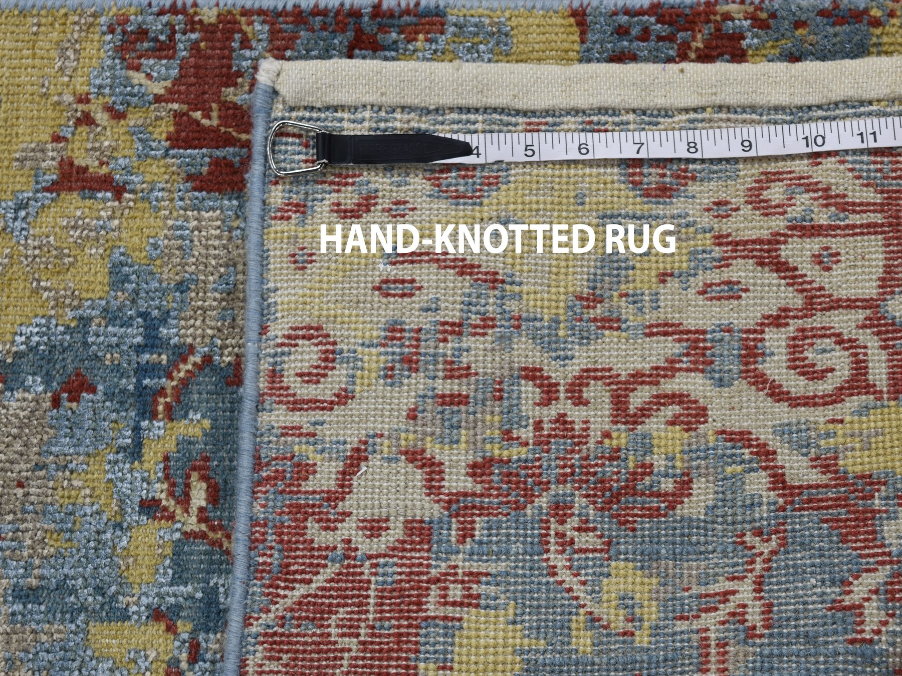 2'x3' Hand Knotted Silk With Textured Wool Erased Design Oriental Rug