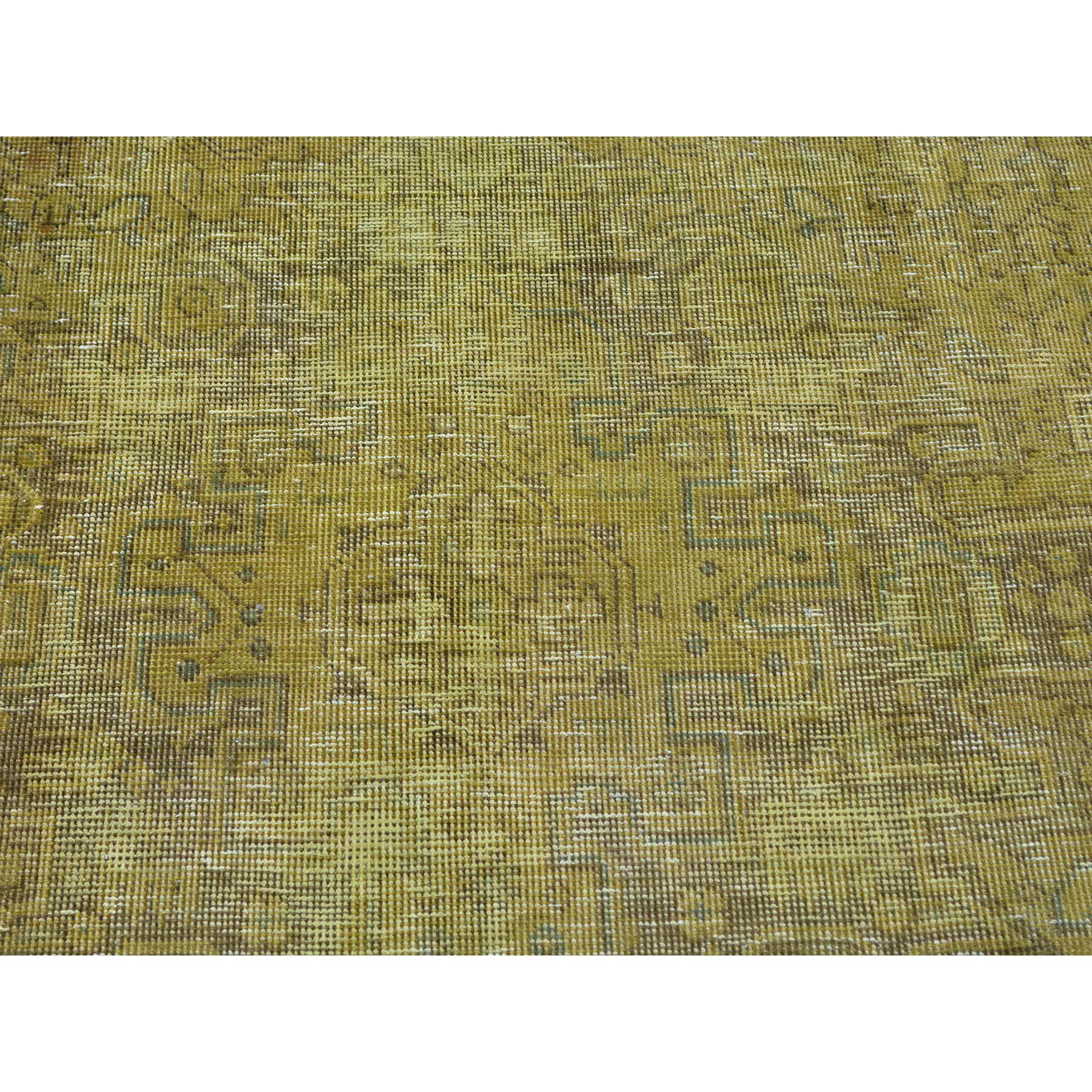 6- x 9- Hand Knotted Worn Down Overdyed Persian Tabriz Oriental Rug