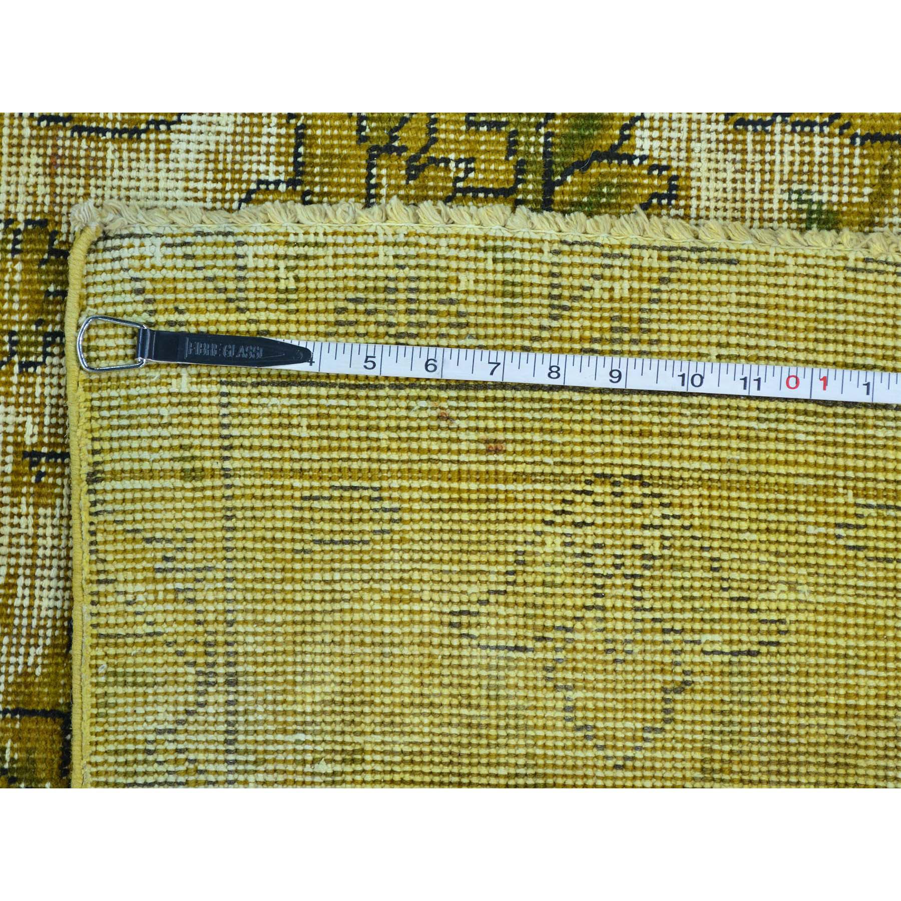 6- x 6- Round Hand Loomed Modern Gabbeh Wool and Silk Oriental Rug
