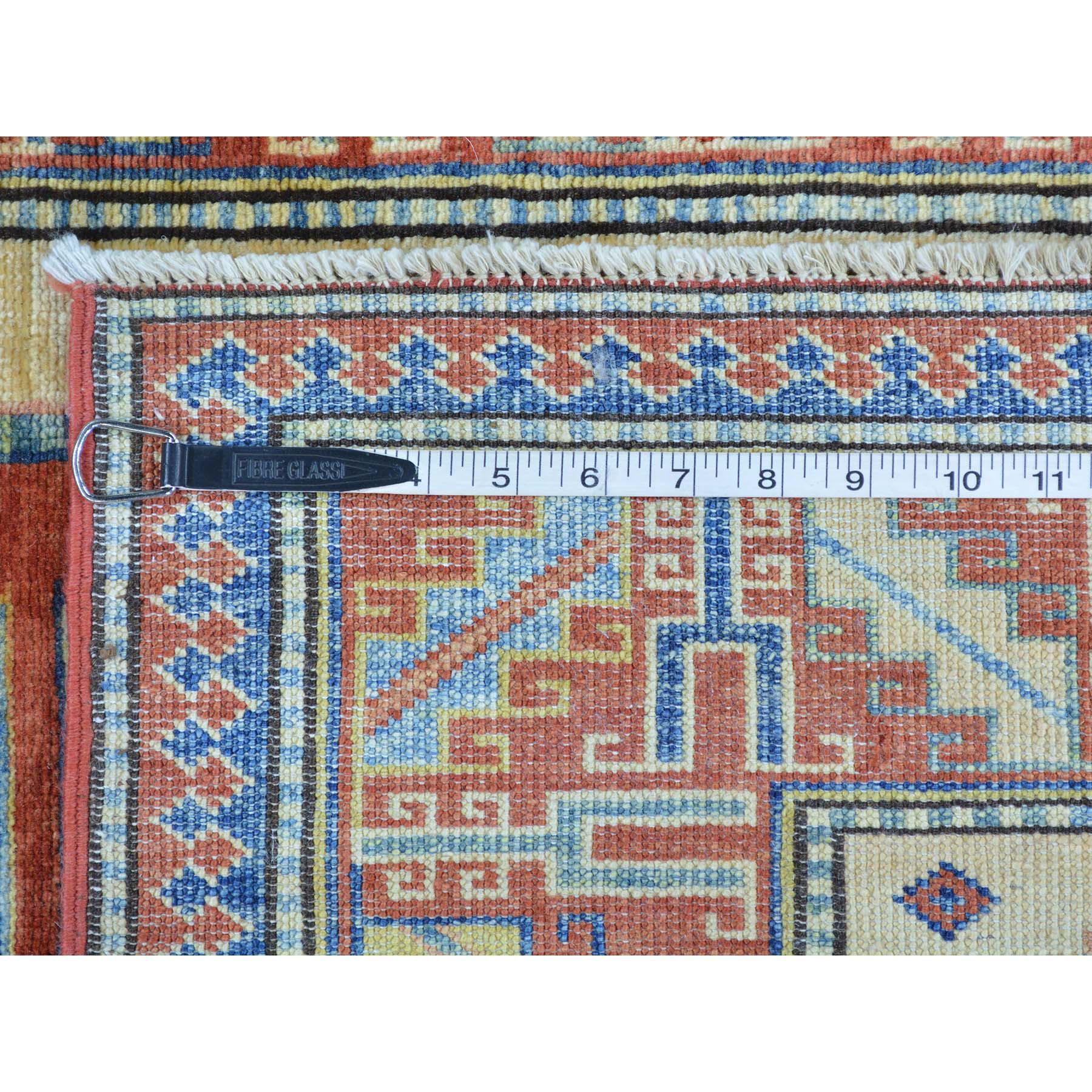 3-6 x5-6  Hand Knotted Super Kazak Pure Wool Beige Oriental Rug