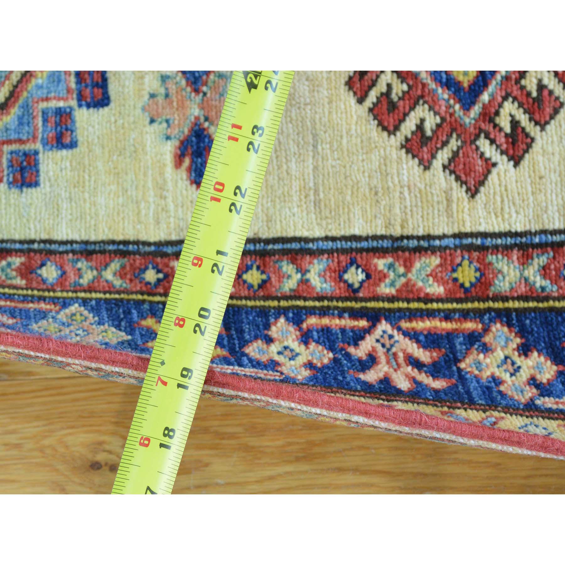 2-9 x7-10  Geometric Design Hand Knotted Runner Super Kazak Oriental Rug