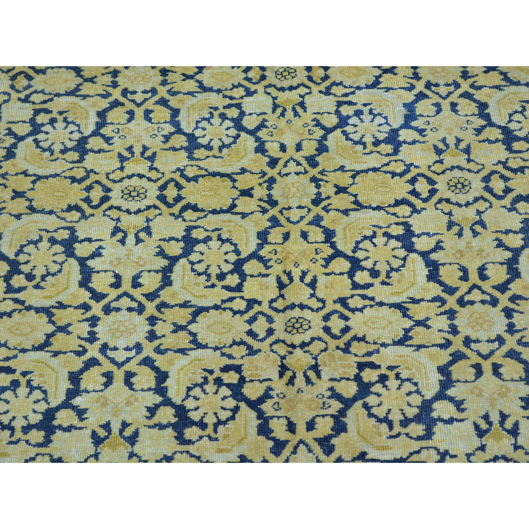 8-9 x16- Antique Laristan Exc Condition Handmade Gallery Size Rug