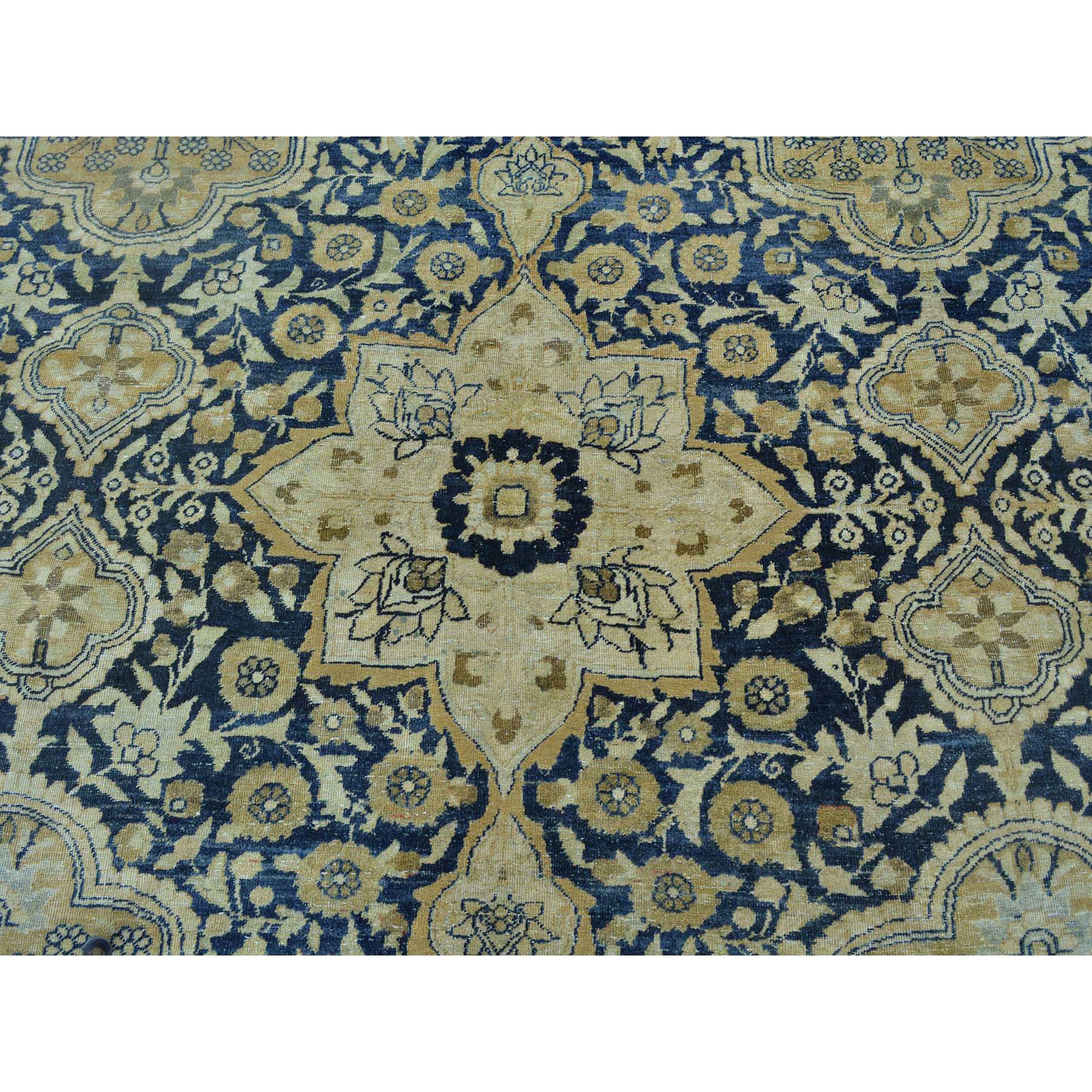 9-5 x14- Antique Persian Kerman Exc Cond Hand Knotted Oriental Rug