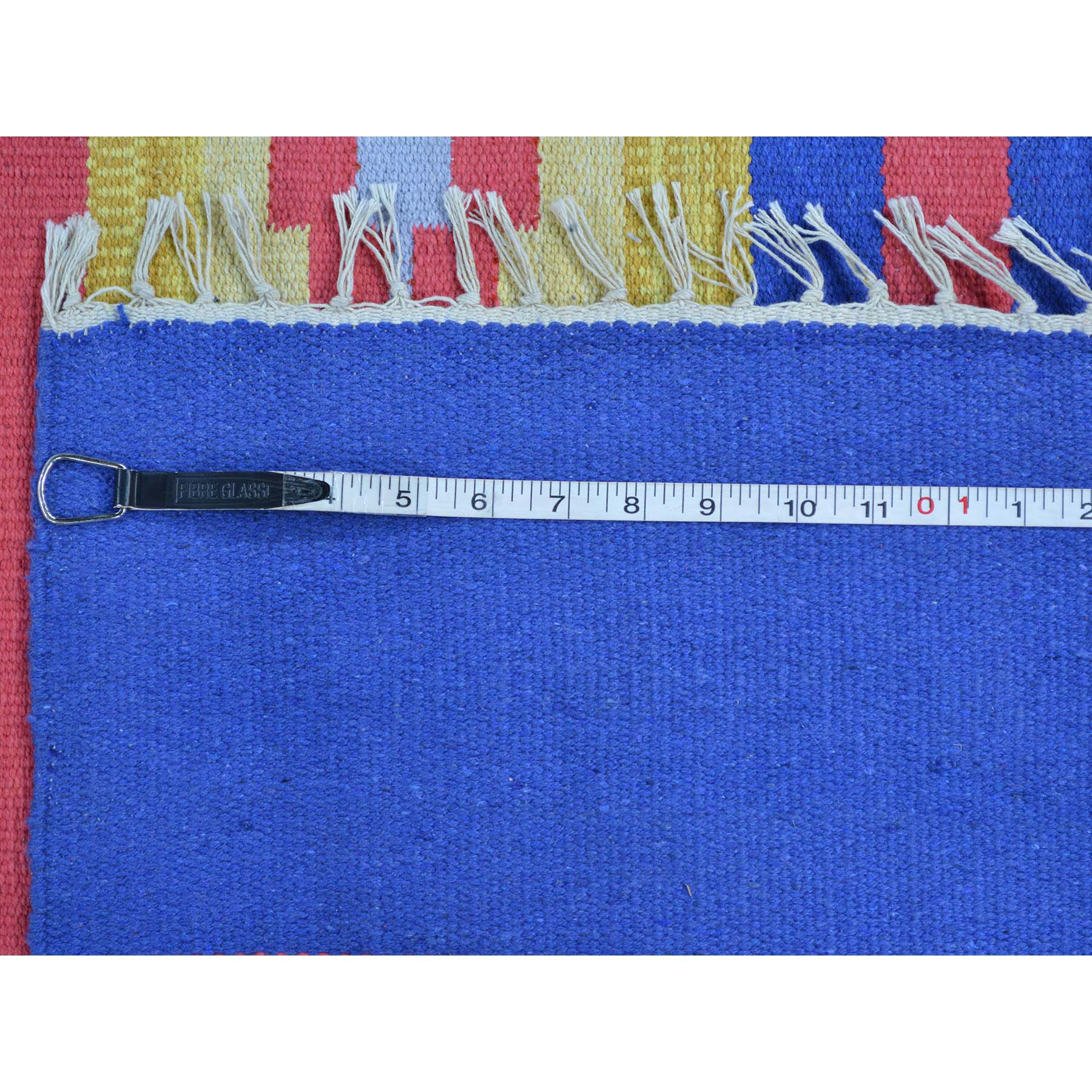 8-10 x12- Southwestern Design Flat Weave Hand Woven Killim Rug