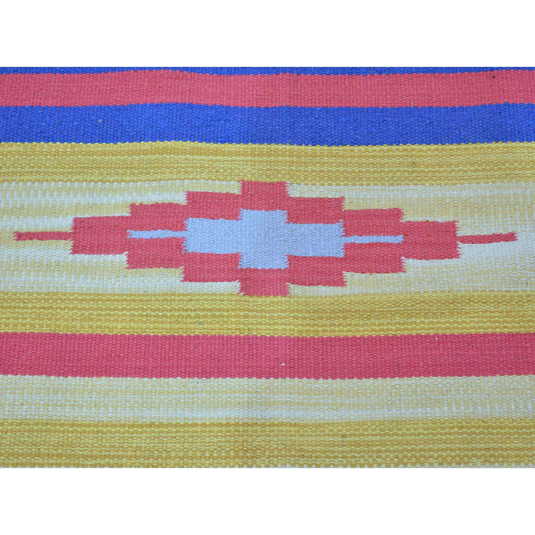 8-x10-1  Flat Weave Hand Woven Killim Southwestern Design Rug