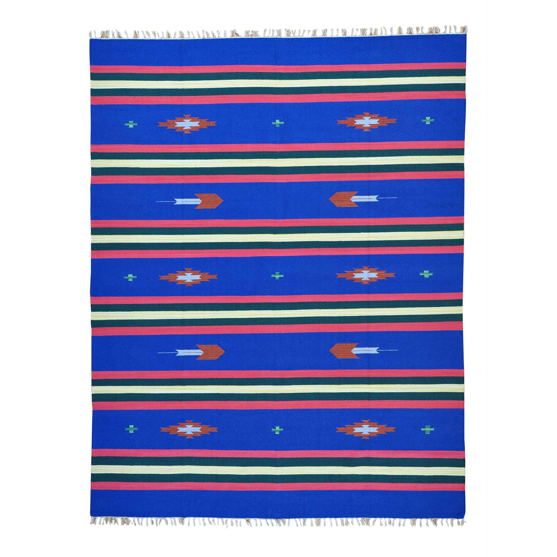 "8'X10'2"" Navajo Design Flat Weave Hand Woven Killim Rug moab608e"