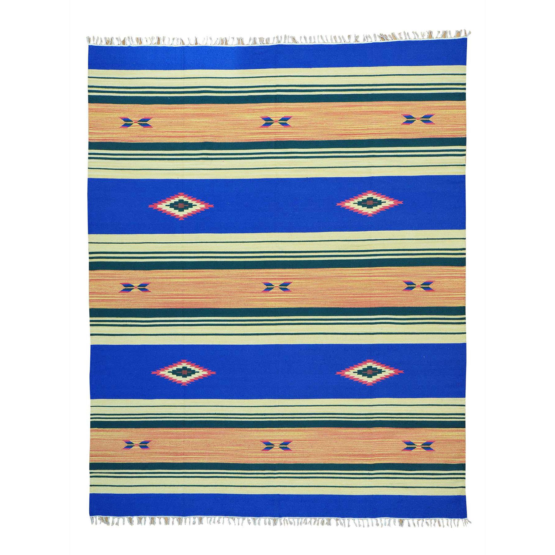 "8'X10'1"" Hand Woven Killim Navajo Design Flat Weave Rug moab6086"