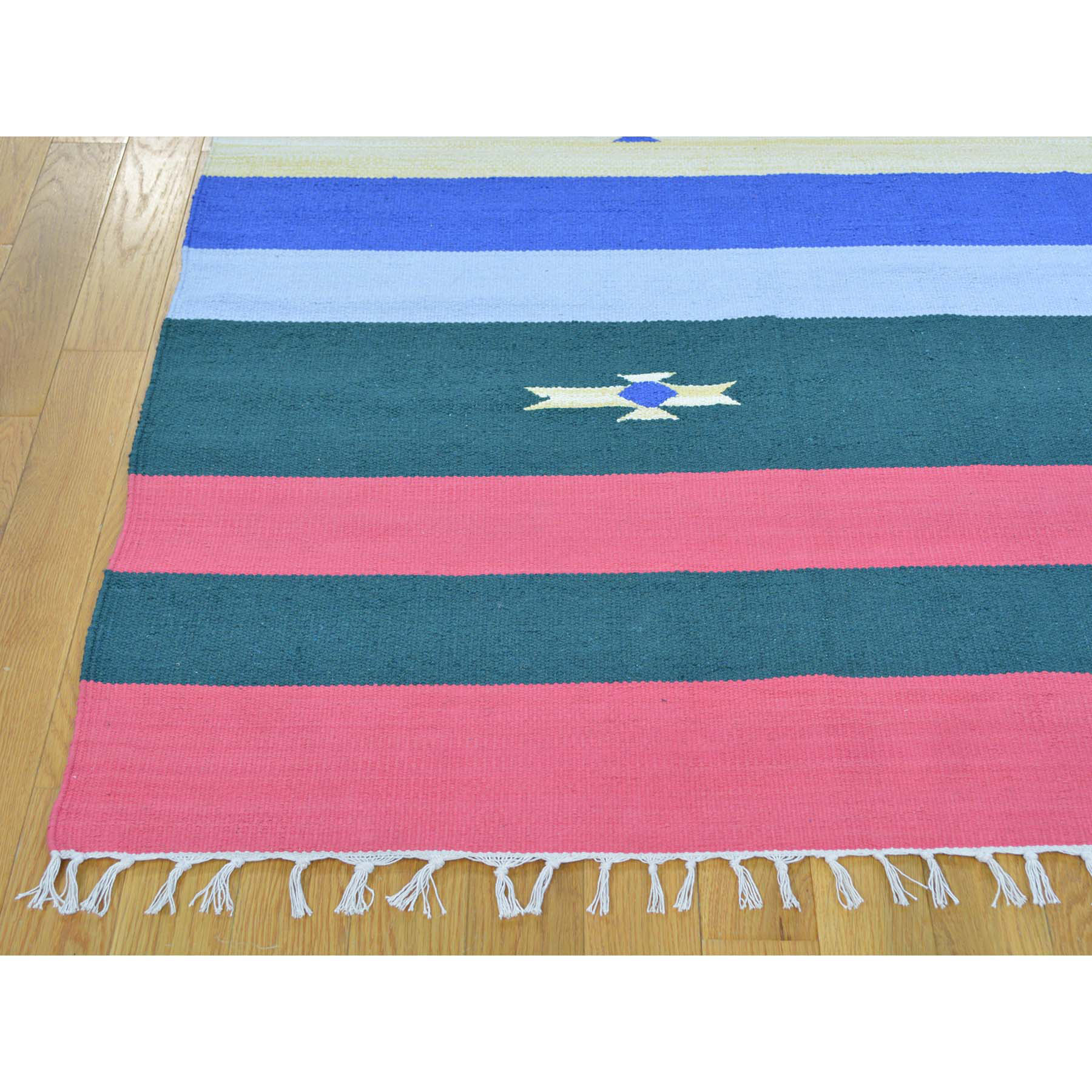 8-x10-3  Hand Woven Flat Weave Killim Navajo Design Rug