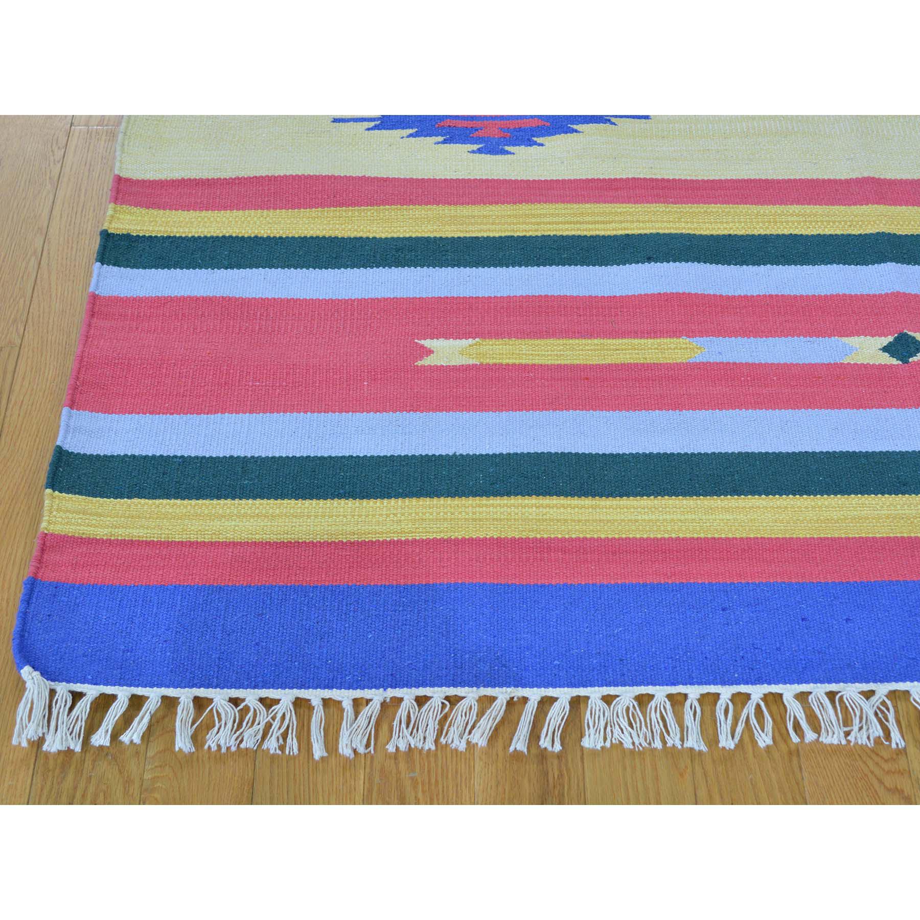 5-x7-1  Navajo Design Flat Weave Kilim Hand Woven Rug