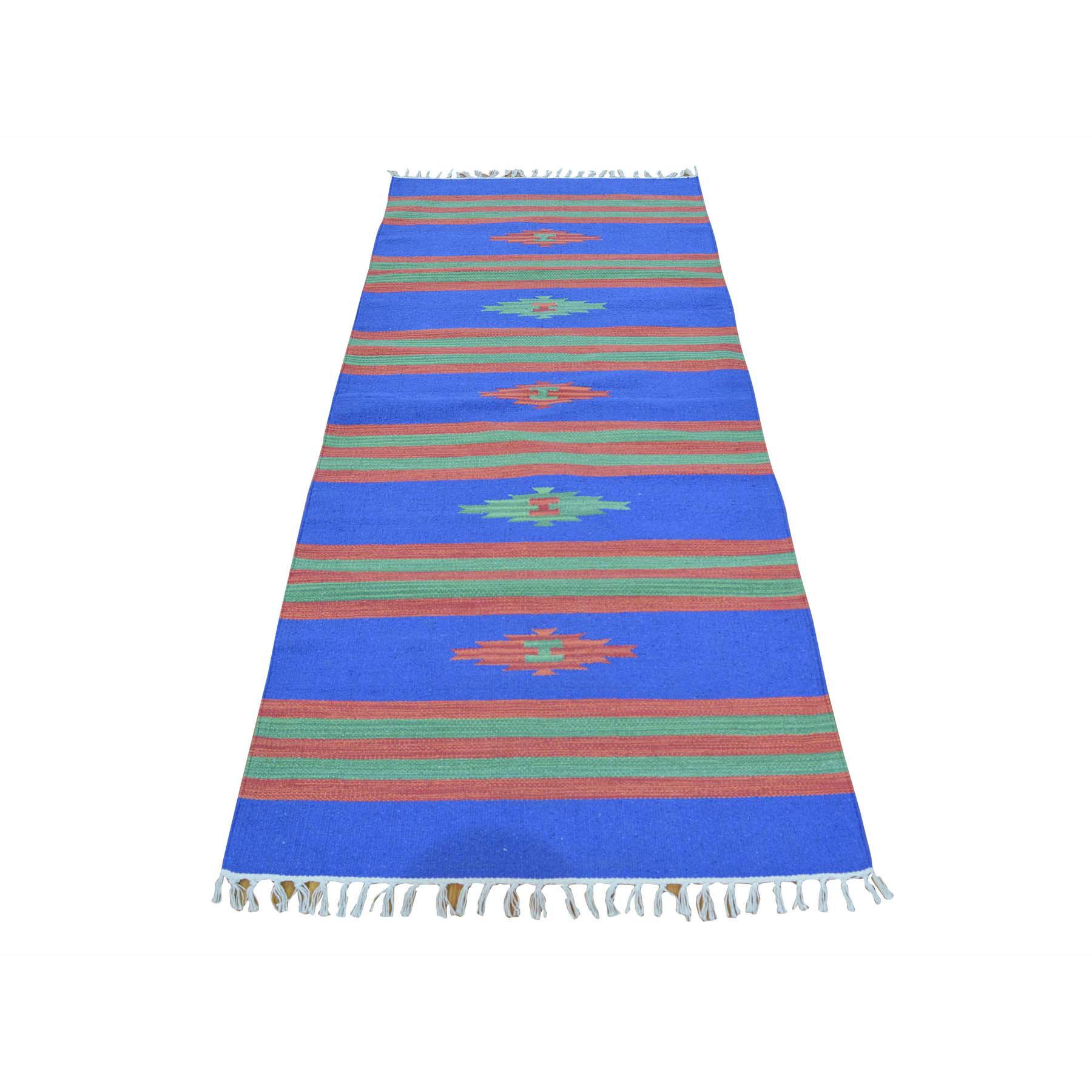 "2'6""X5'9"" Runner Navajo Design Flat Weave Kilim Hand Woven Rug moab6ad7"