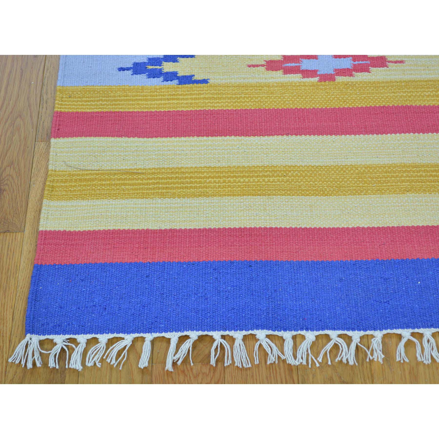 2-6 x8- Flat Weave Kilim Southwestern Design Runner Hand Woven Rug
