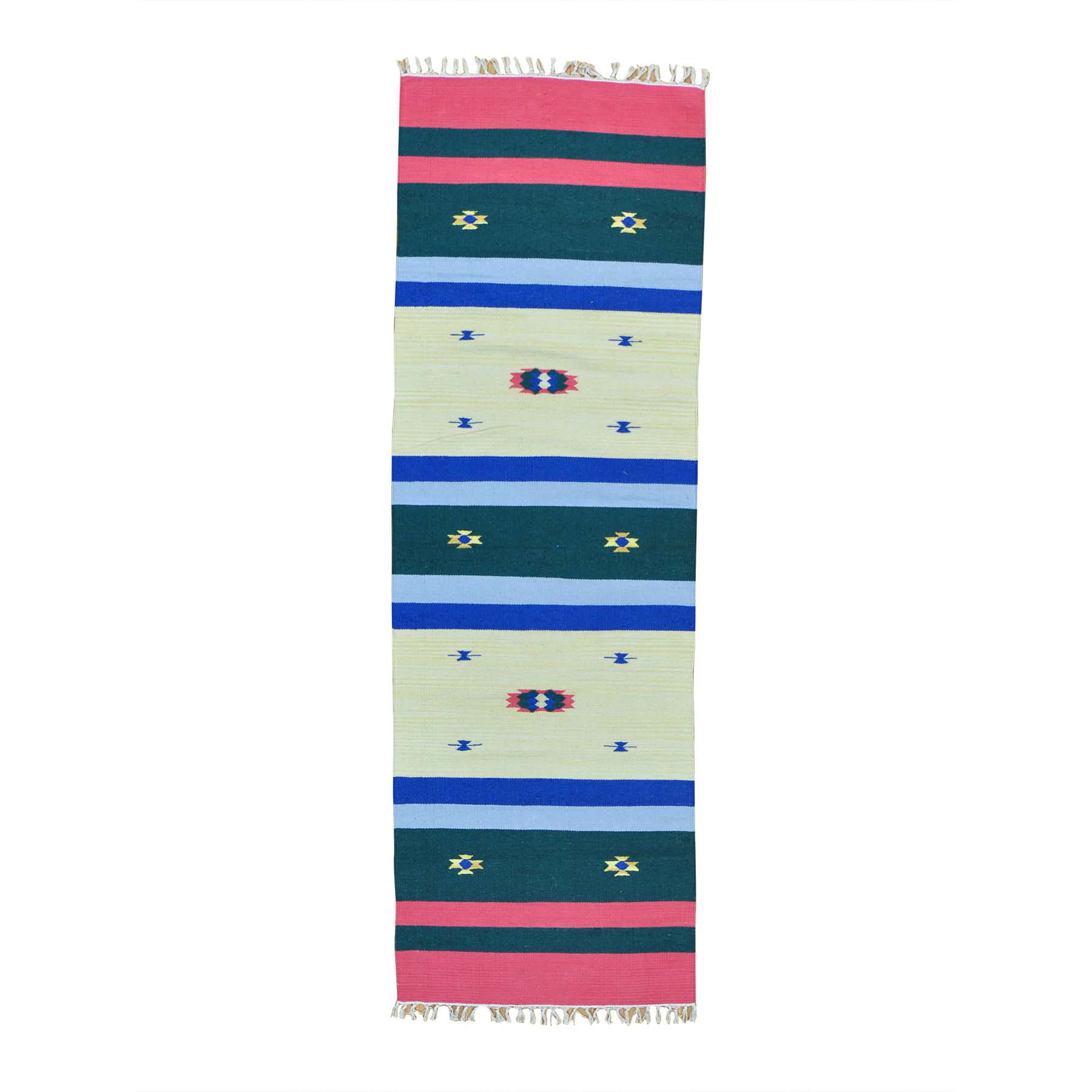 "2'6""X7'7"" Navajo Design Runner Flat Weave Kilim Hand Woven Rug moab6ae8"