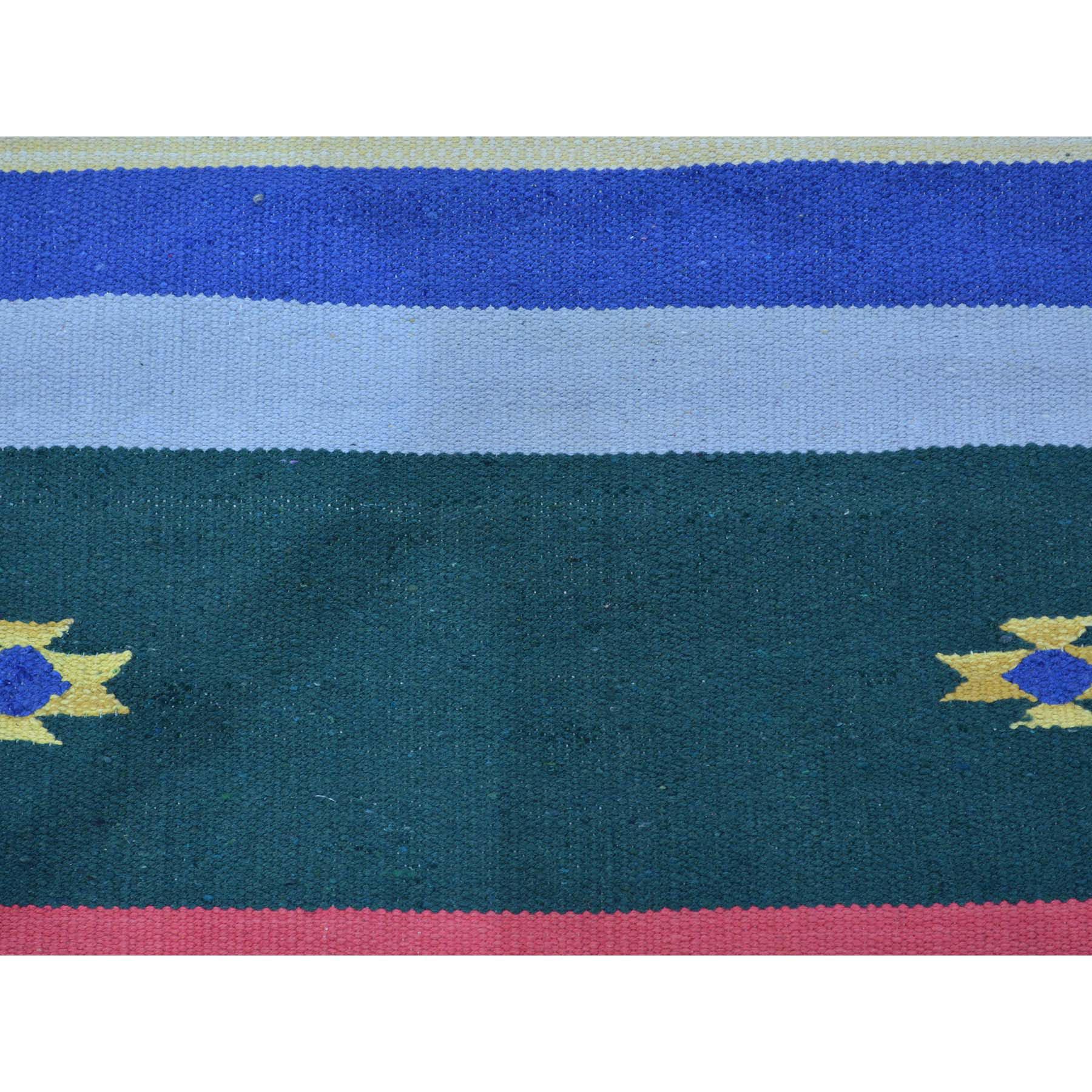 2-6 x7-7  Navajo Design Runner Flat Weave Kilim Hand Woven Rug