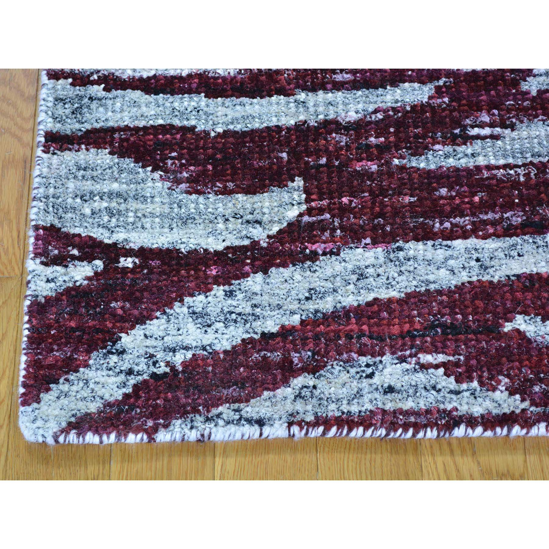 2-x3- Multicolored Modern Sari Silk Handmade Rug