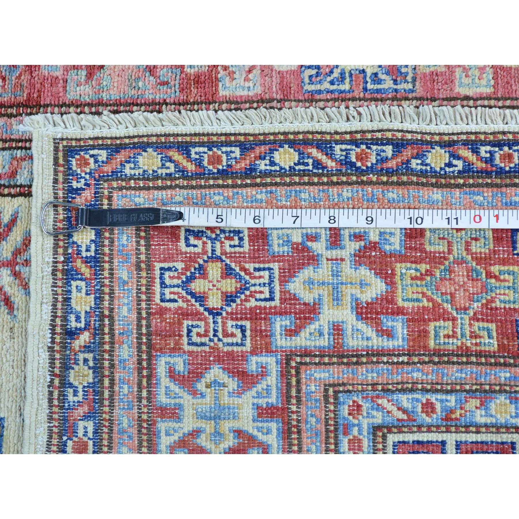 4-x6-2  Super Kazak Tribal Design Hand Knotted Pure Wool Oriental Rug