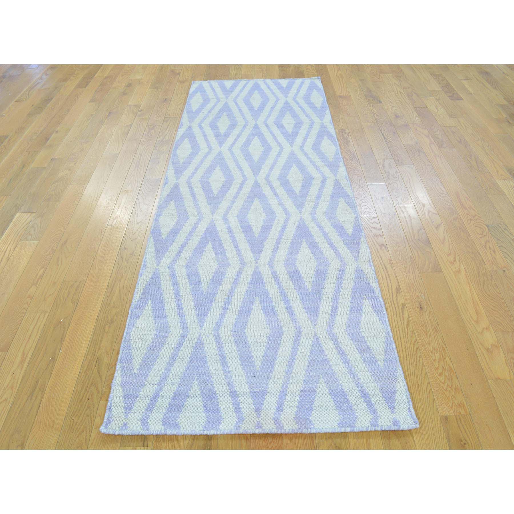 2-8 x8- Reversible Runner Flat Weave Killim Hand Woven Oriental Rug