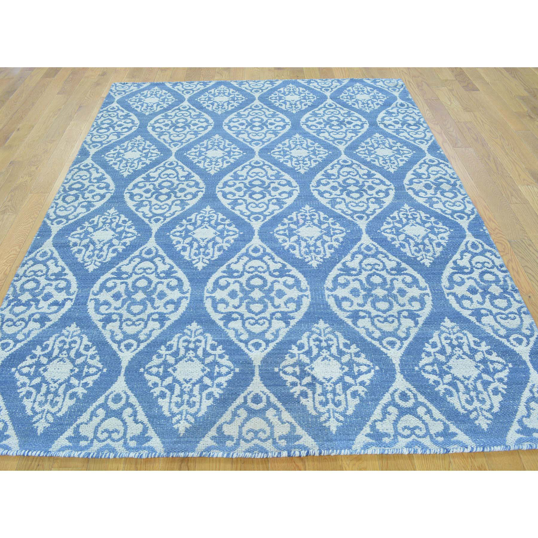 5-2 x6-10  Flat Weave Hand Woven Reversible Kilim Rug