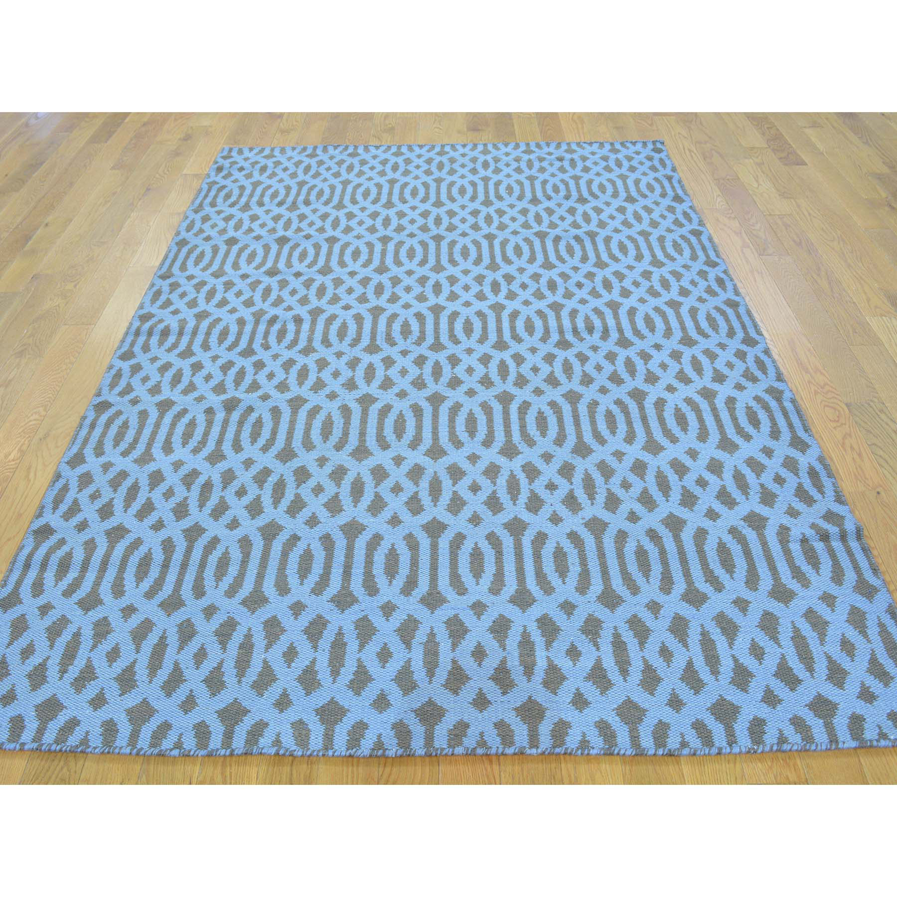 4-10 x7-2  Hand Woven Reversible Flat Weave Oriental Kilim Rug