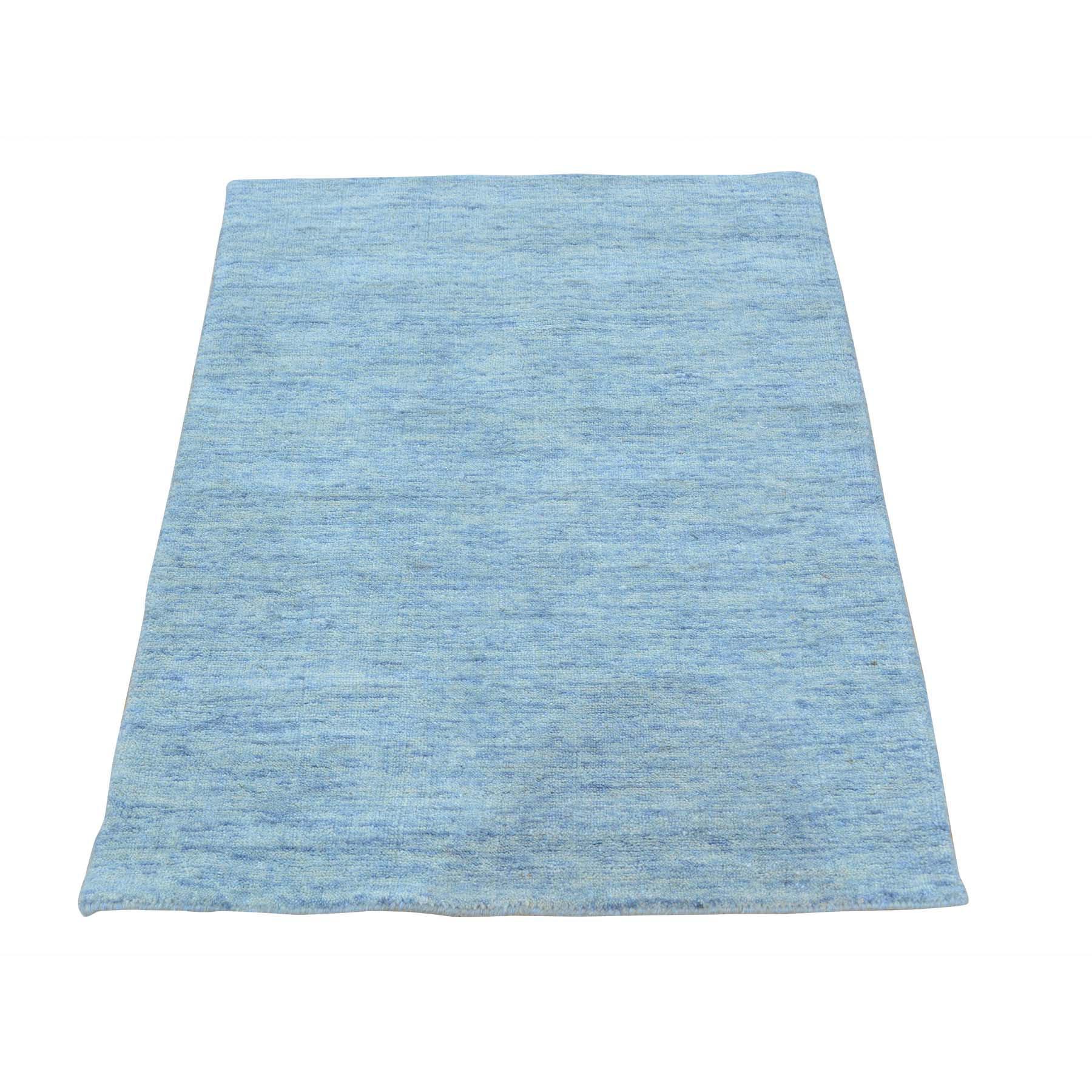 2'X3' Pure Wool Modern Hand Loomed Gabbeh Oriental Rug moab6db0