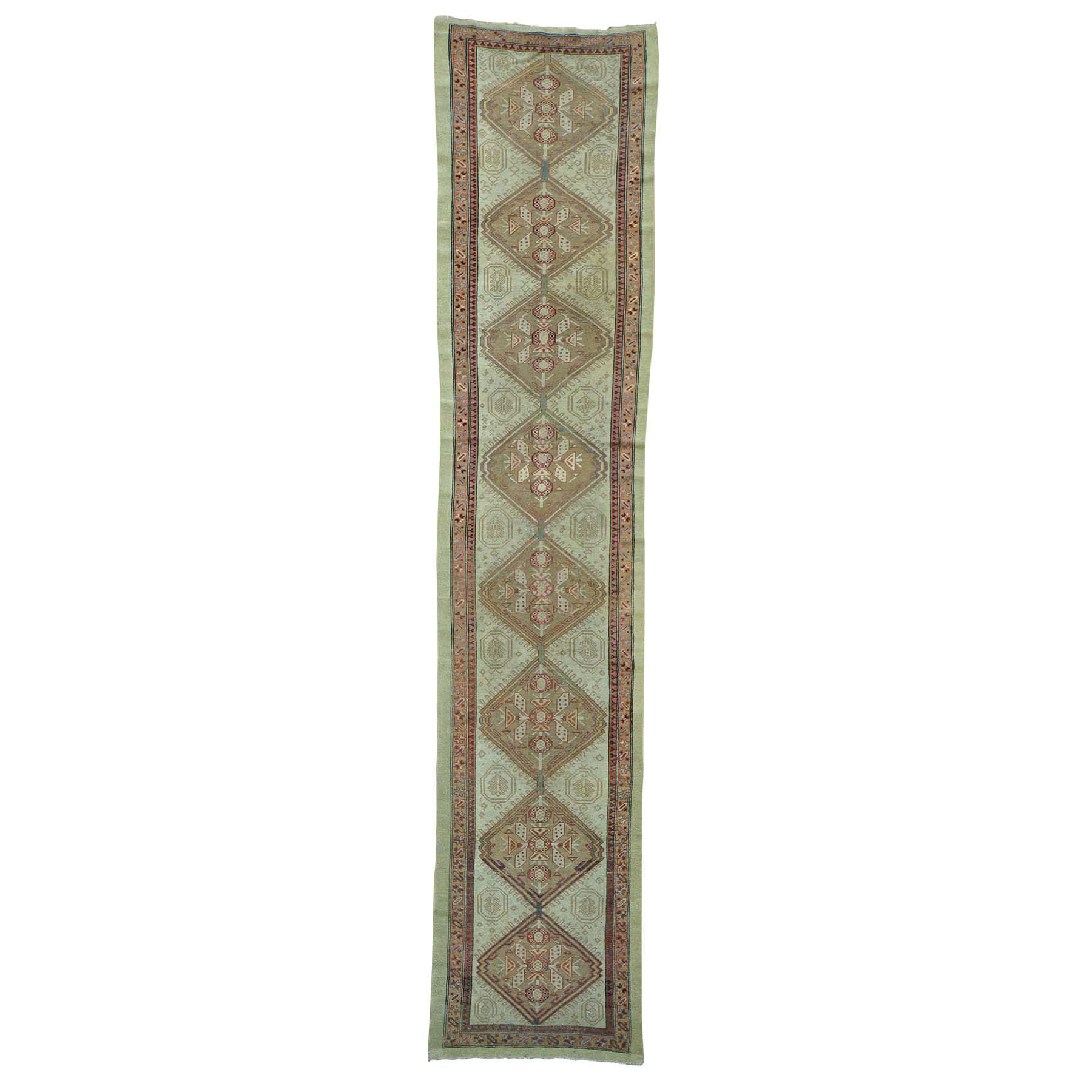 "3'1""X14'3"" Xl Runner Antique Persian Serab Mint Cond Pure Wool Rug moab6dbd"
