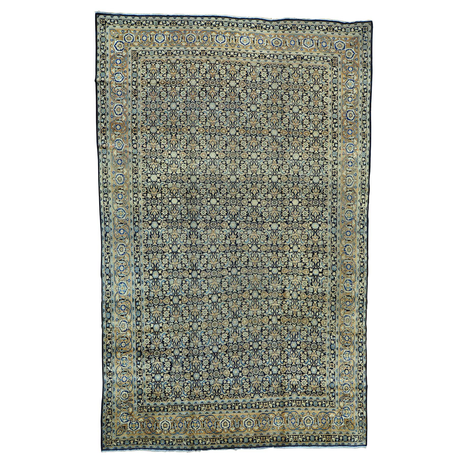 "10'10""X17' Gallery Size Antique Persian Kerman Herati Design Rug moab6db6"