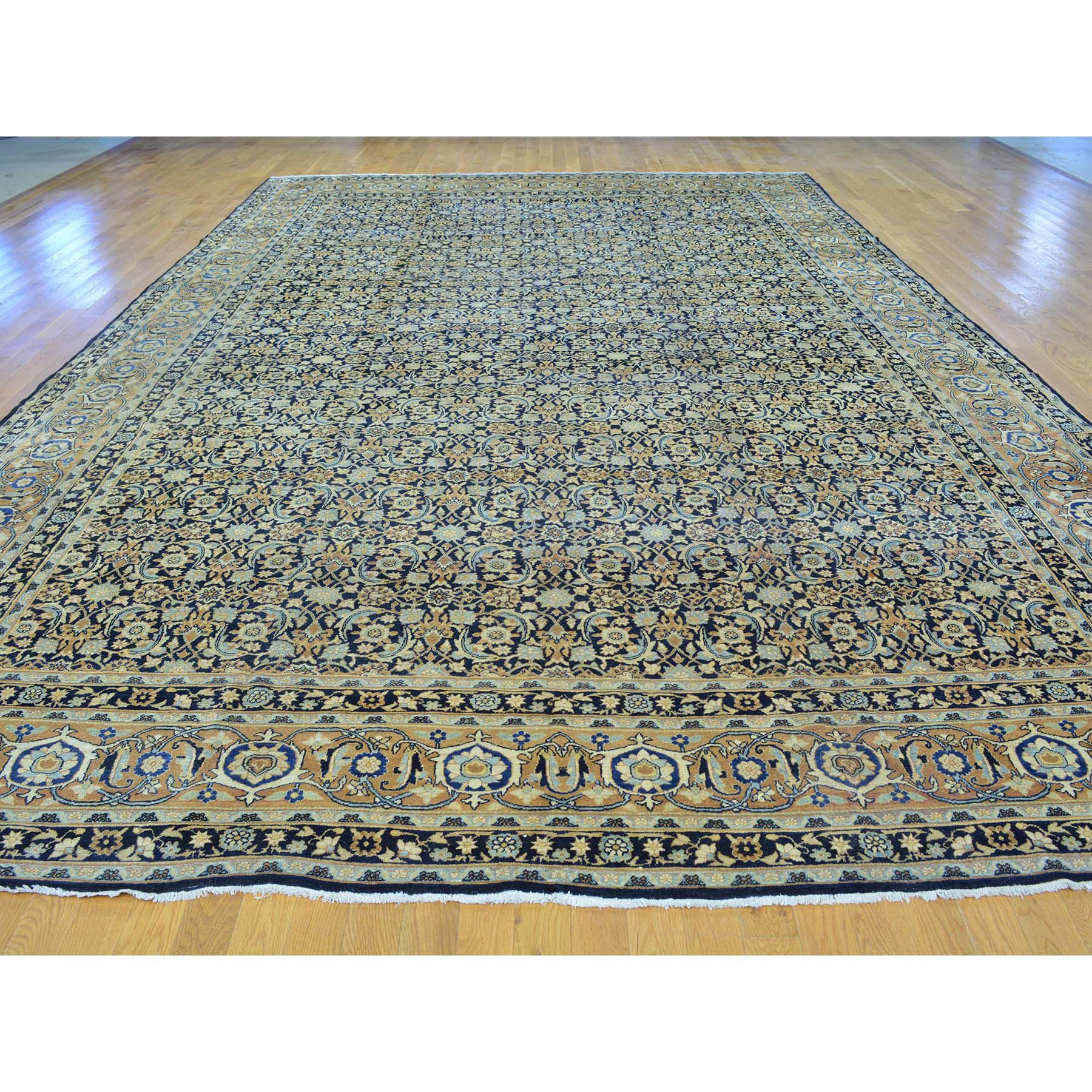 10-10 x17- Gallery Size Antique Persian Kerman Herati Design Rug
