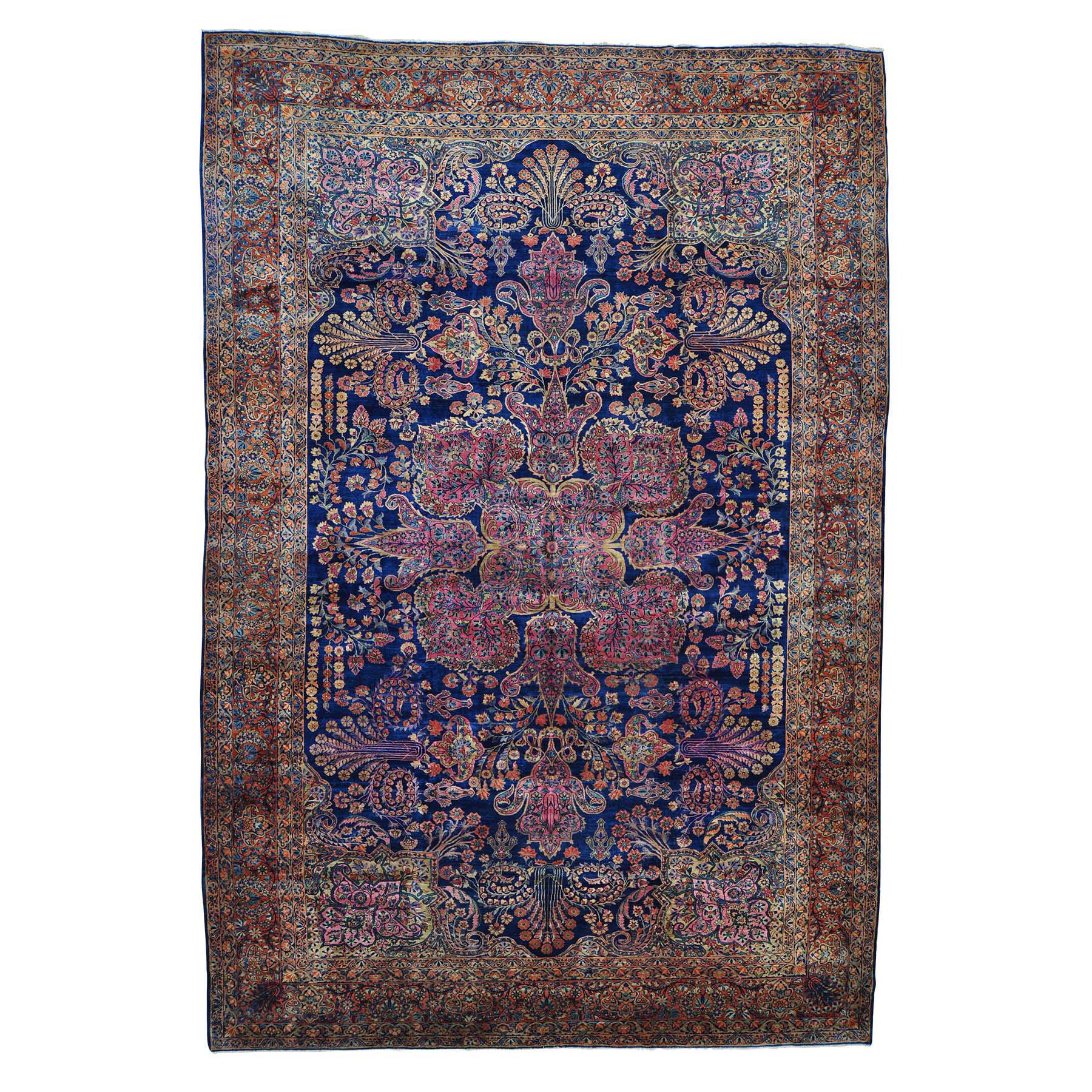 "12'X17'8"" Antique Persian Mohajeran Sarouk Oversize Rug moab6db7"