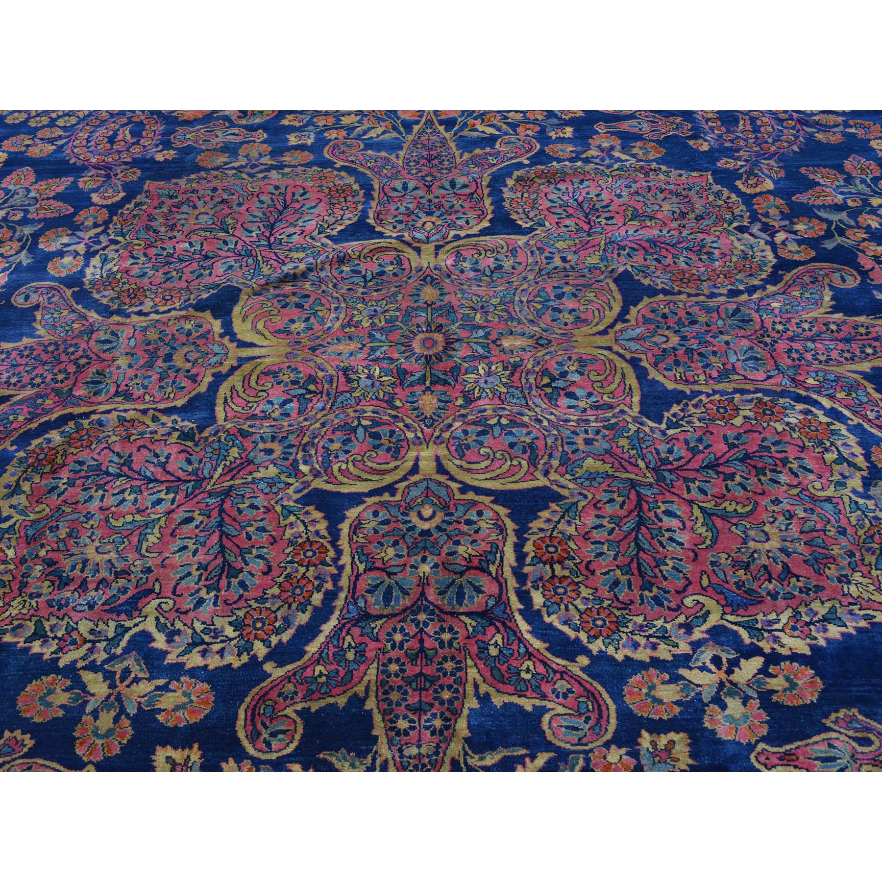 12-x17-8  Antique Persian Mohajeran Sarouk Oversize Rug