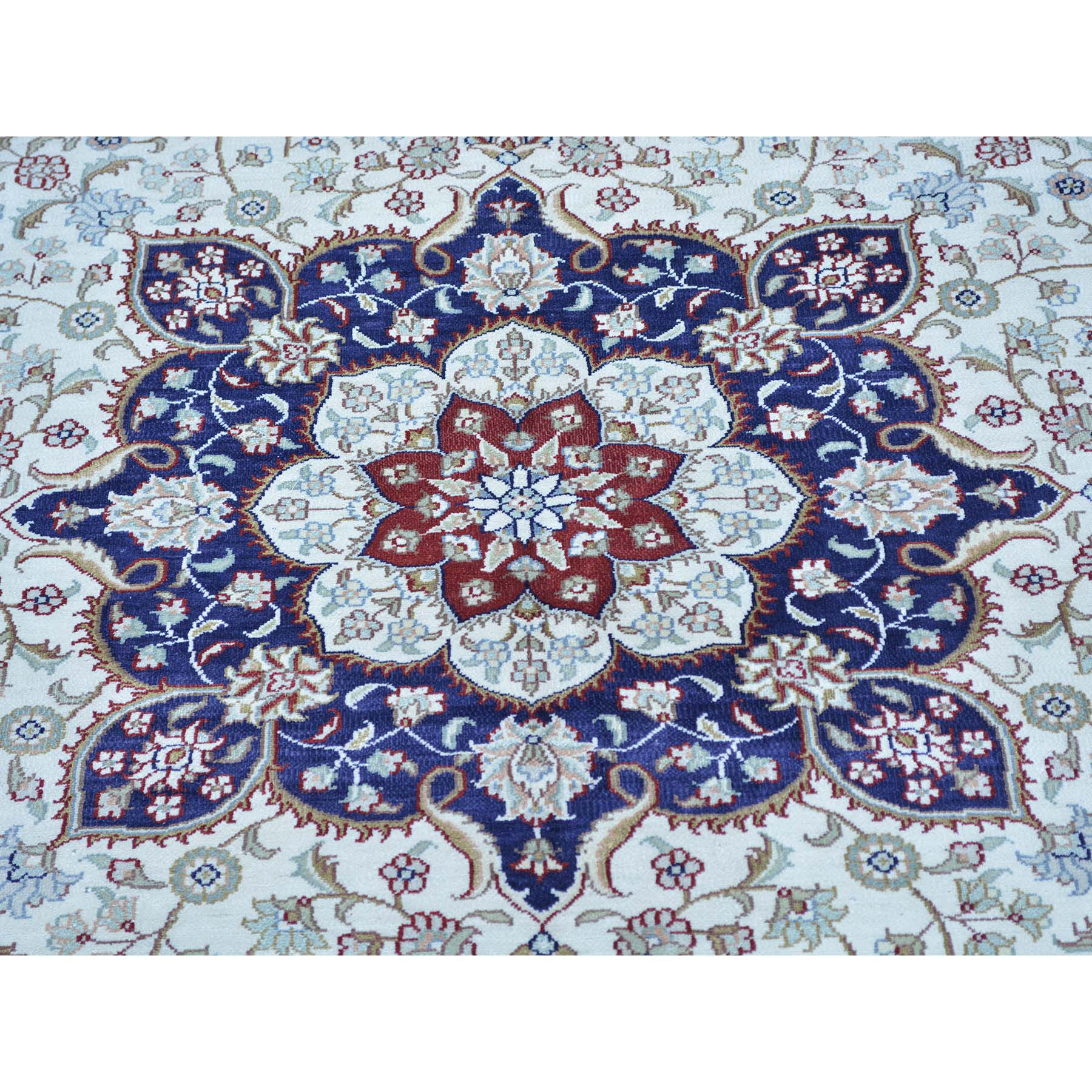 8-10 x12- Hand Knotted Pure Silk Kashan 400 KPSI Oriental Rug