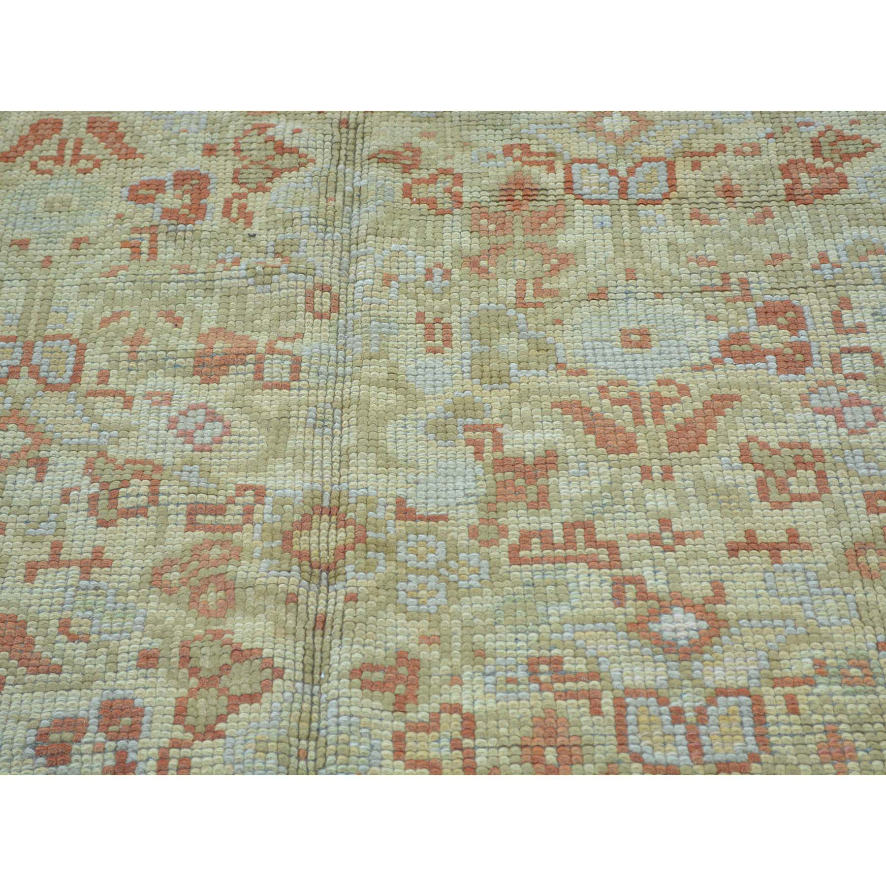 8-7 x14-9  Gallery Size Antique European Donegal Exc Cond Pure Wool Rug