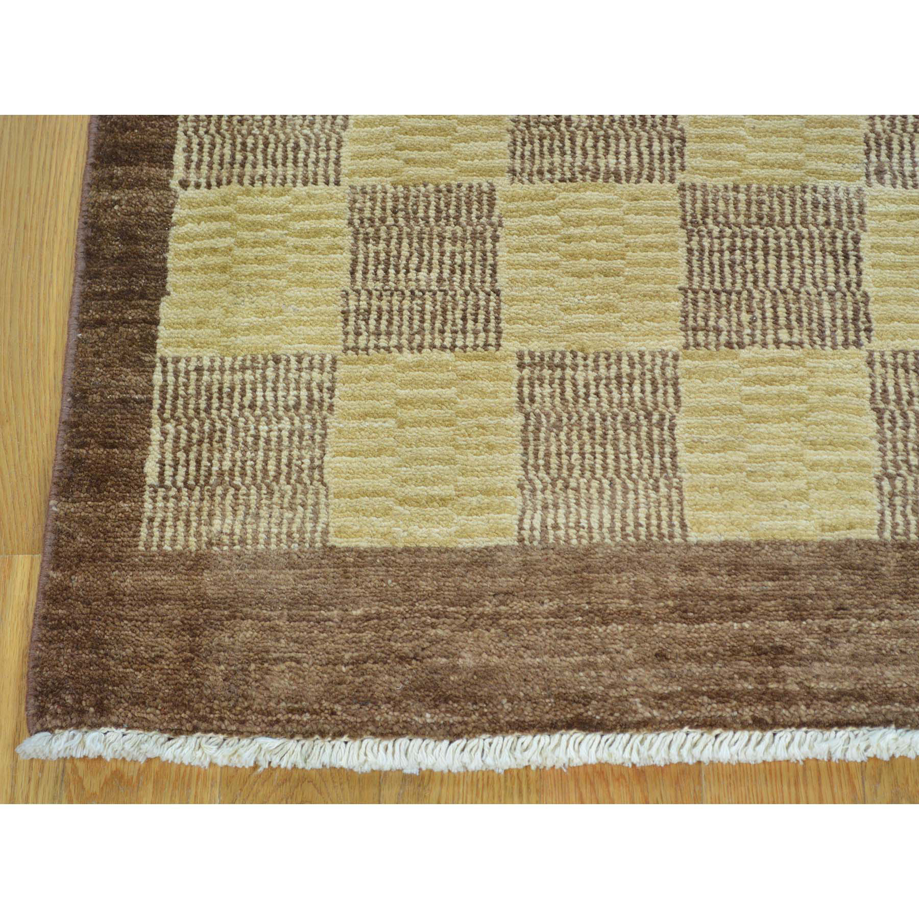 3-2 x5-4  Peshawar Gabbeh Hand Knotted Pure Wool Oriental Rug