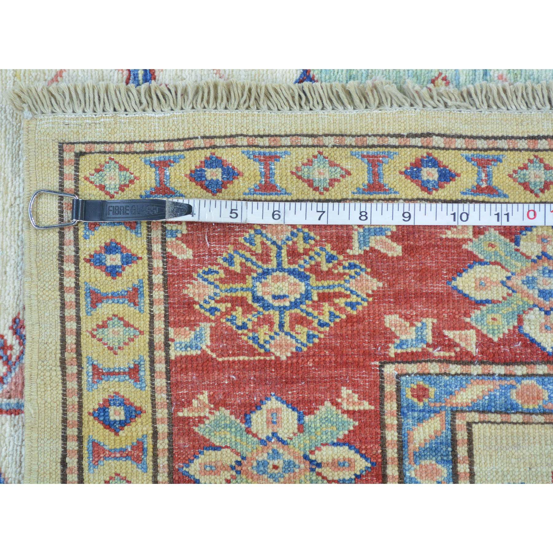 4-10 x6-4  Super Kazak Geometric Design Pure Wool Hand Knotted Rug