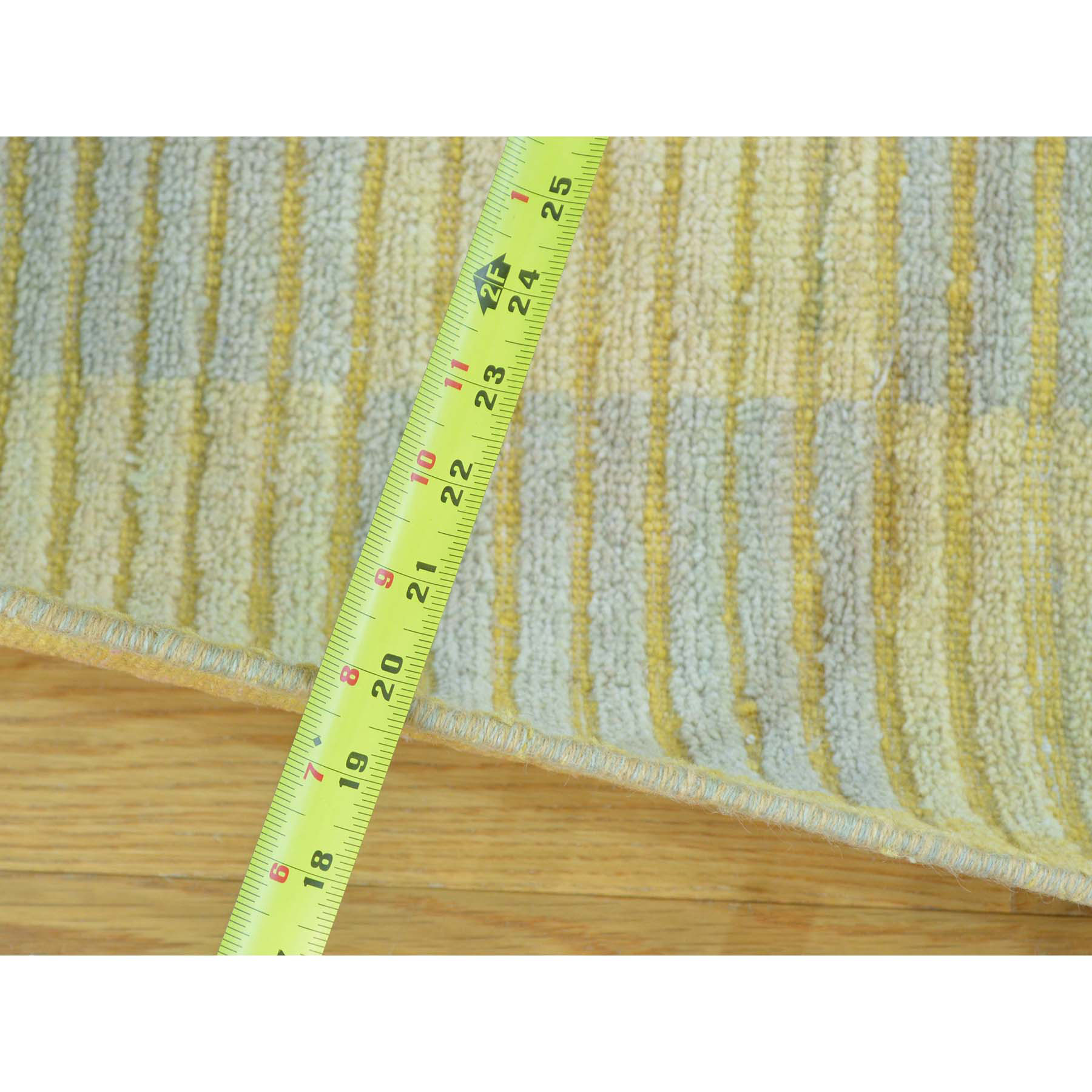 2-8 x7-10  Pure Wool Modern Gabbeh Raised Pile Runner Hand Knotted Rug