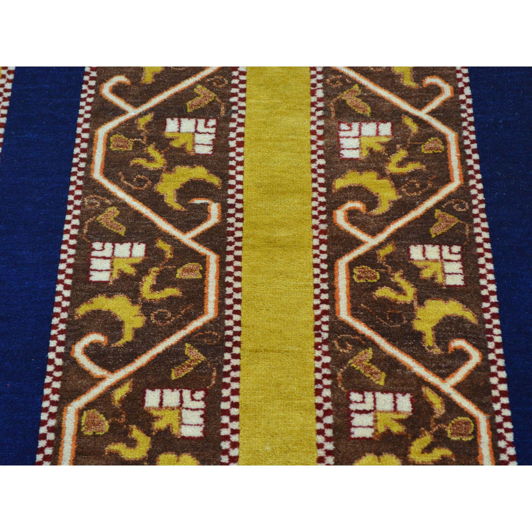 2-9 x8-3  Striped Kashkuli Runner Pure Wool Hand Knotted Oriental Rug