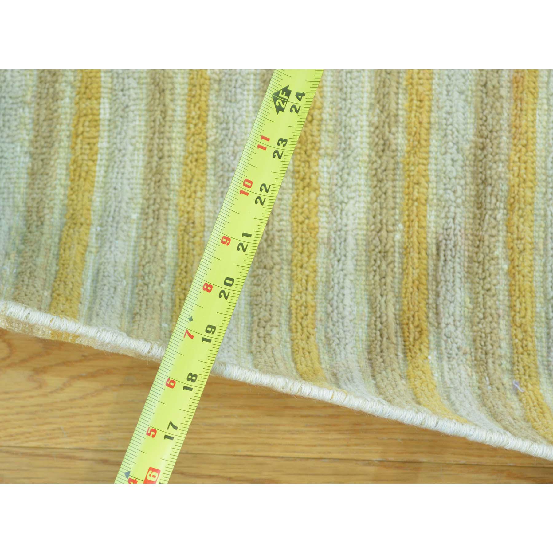 2-7 x8-6  Pure Wool Runner Striped Modern Gabbeh Handmade Oriental Rug