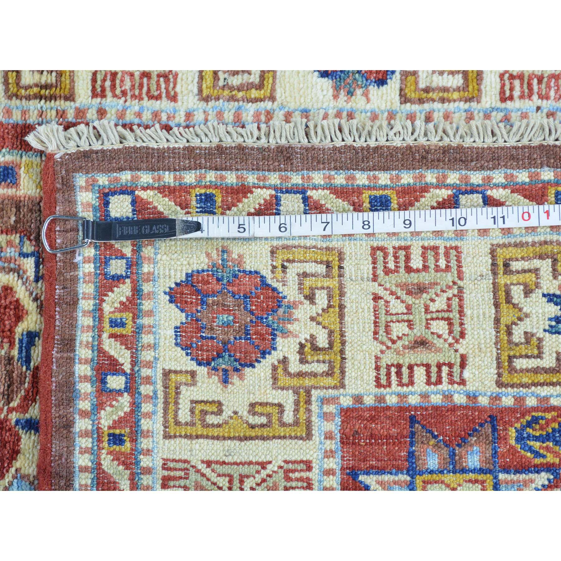 3-2 x5-2  Chocolate Brown Super Kazak Handmade Pure Wool Oriental Rug